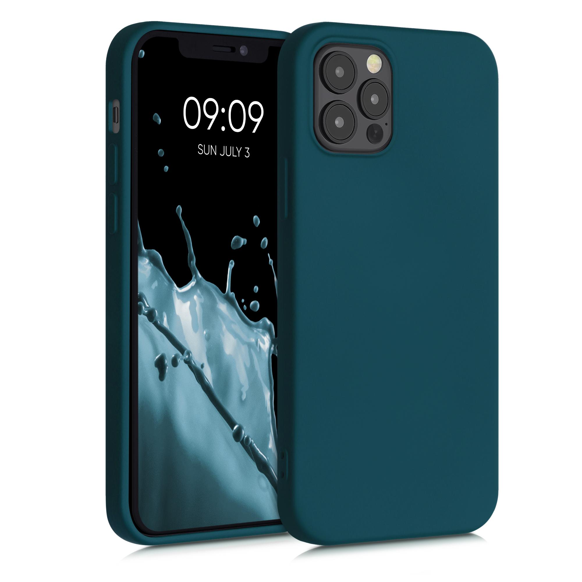 Kvalitní silikonové TPU pouzdro pro Apple iPhone 12 / 12 Pro - Teal Matte