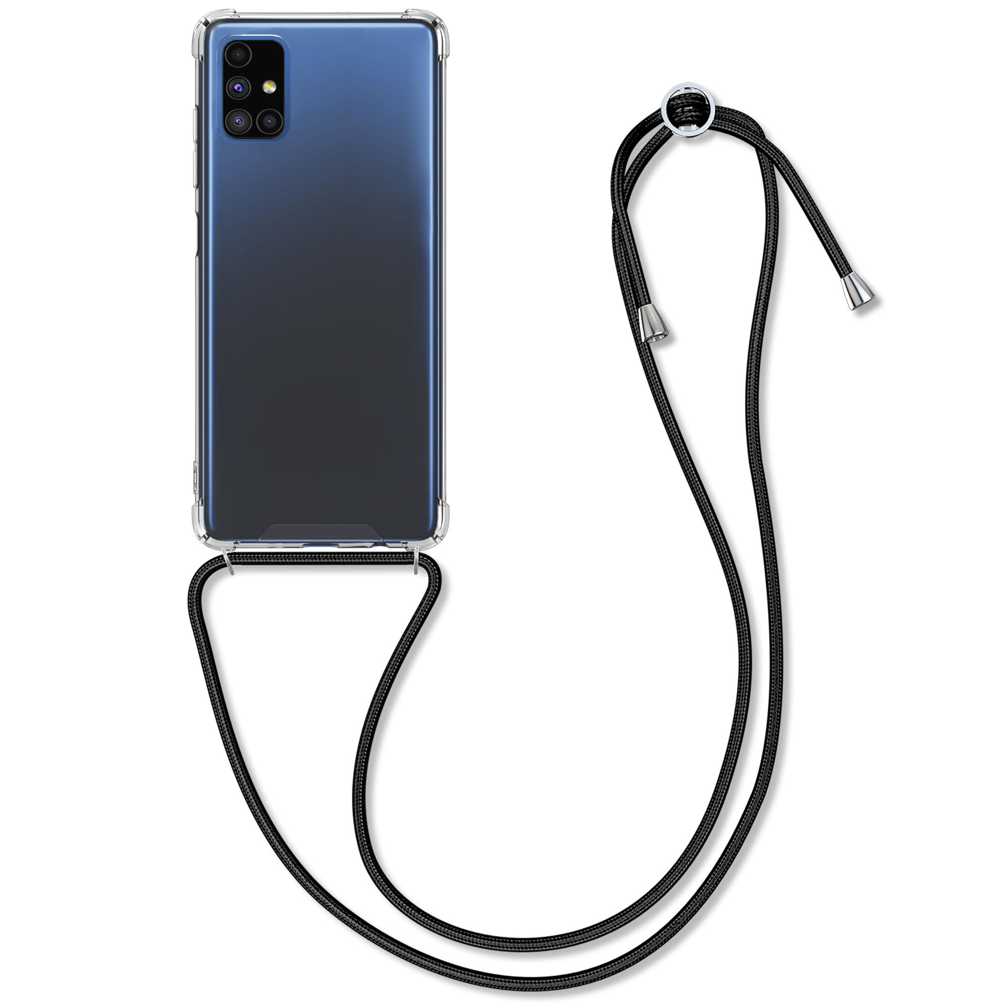Kvalitní silikonové TPU pouzdro pro Samsung M51 - černé / transparentní
