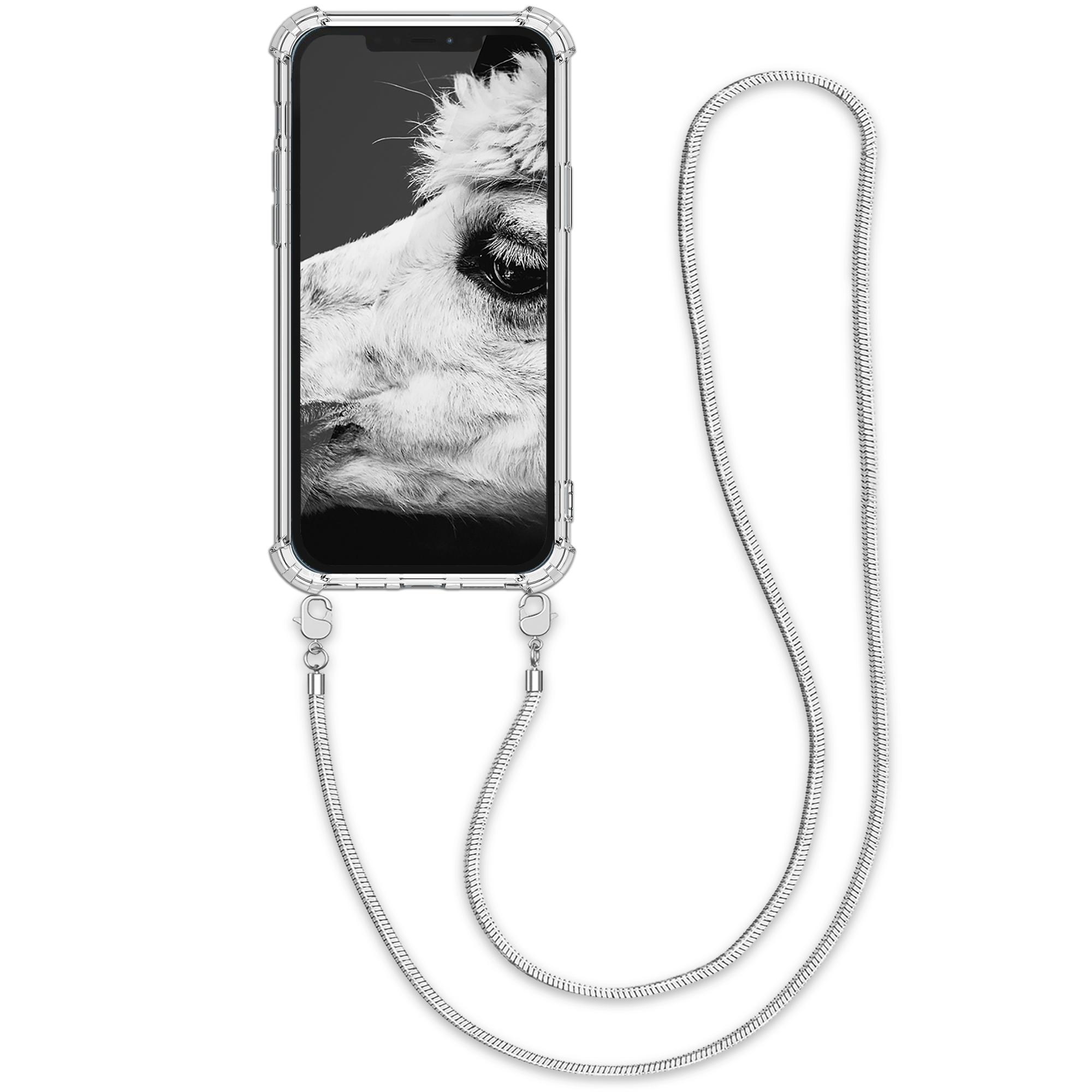 Kvalitní silikonové TPU pouzdro pro Apple iPhone 12 Pro Max - Transparent | Silver
