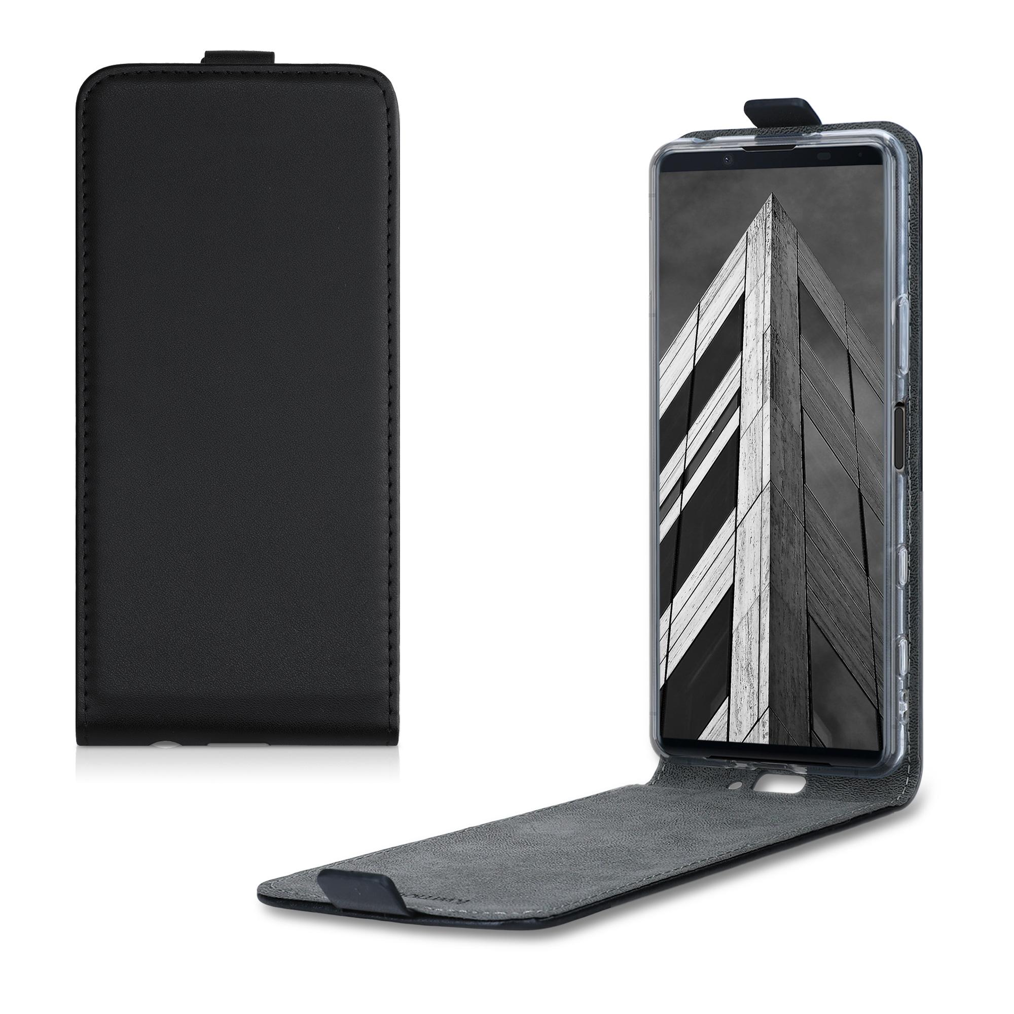 Kožené pouzdro | obal pro Sony Xperia 5 II - černé