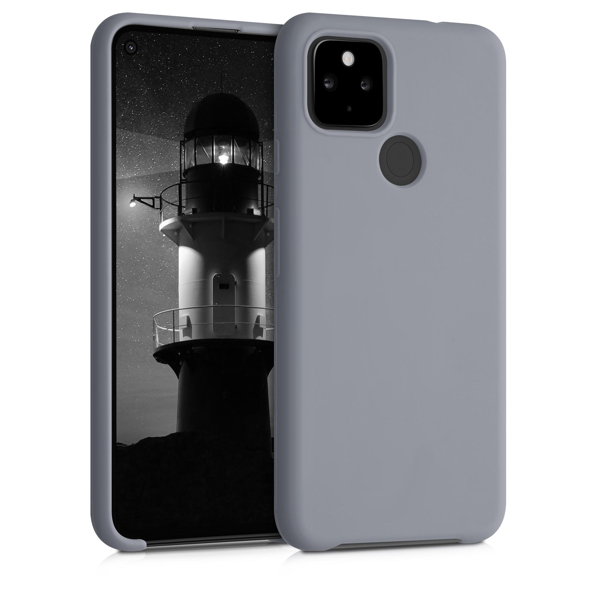 Kvalitní silikonové TPU pouzdro | obal pro Google Pixel 4a 5G - Titanově šedá