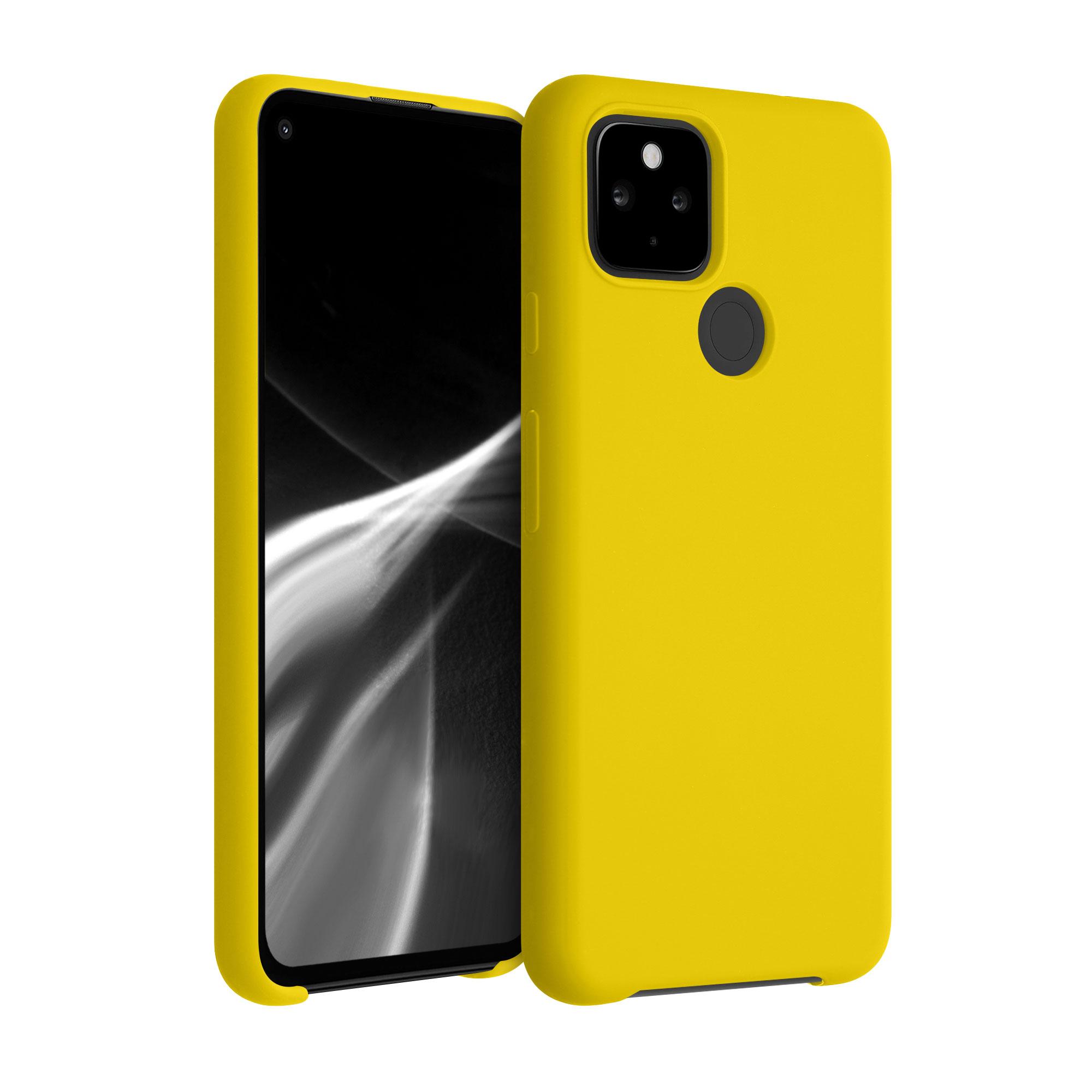 Kvalitní silikonové TPU pouzdro | obal pro Google Pixel 4a 5G - Zářivě žlutá