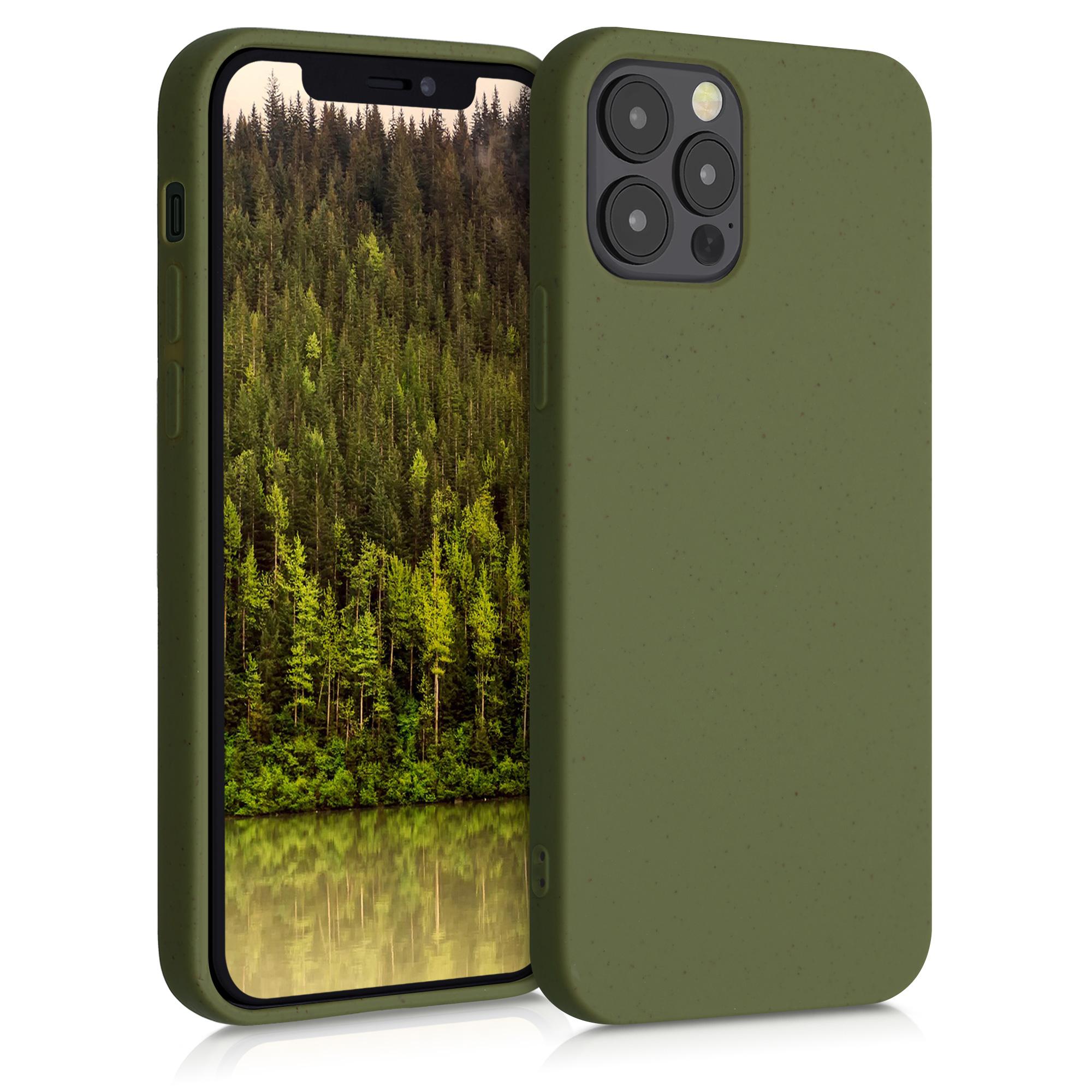 Kvalitní silikonové TPU pouzdro pro Apple iPhone 12 / 12 Pro - Olivově zelená