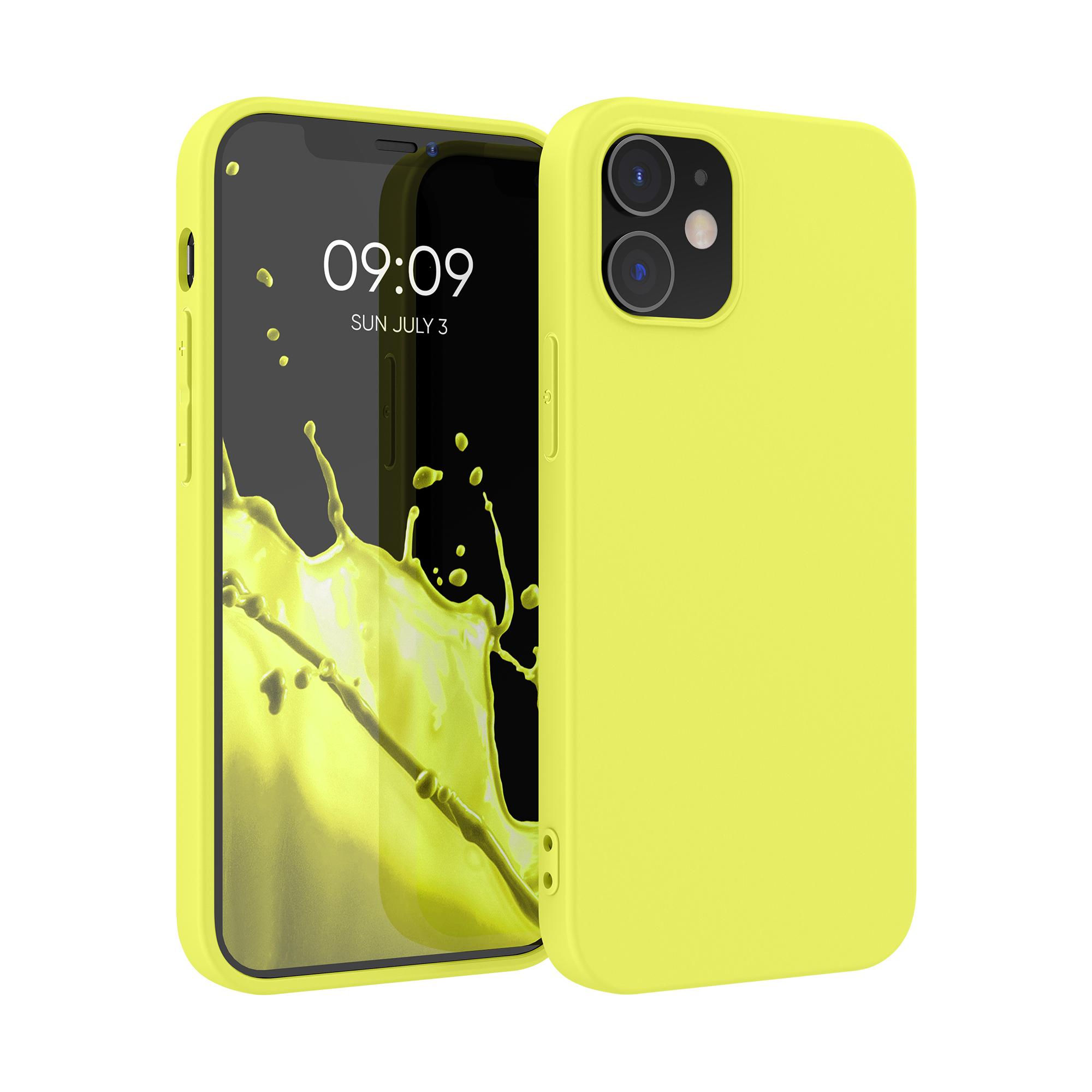 Kvalitní silikonové TPU pouzdro pro Apple iPhone 12 / 12 Pro - Pastel Yellow Matte