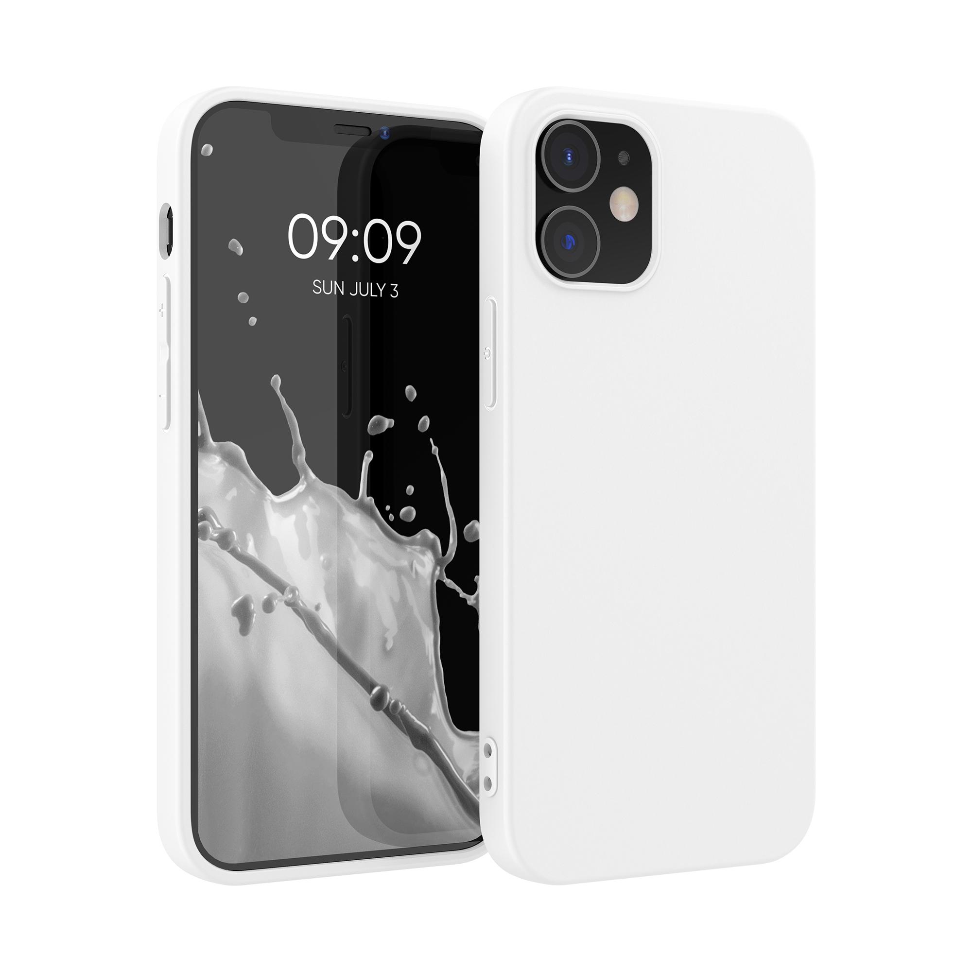 Kvalitní silikonové TPU pouzdro pro Apple iPhone 12 / 12 Pro - White Matte