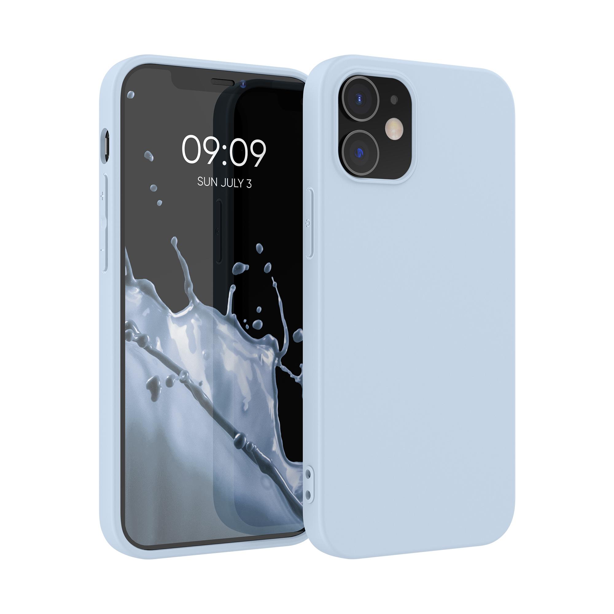 Kvalitní silikonové TPU pouzdro pro Apple iPhone 12 / 12 Pro - Light Blue Matte