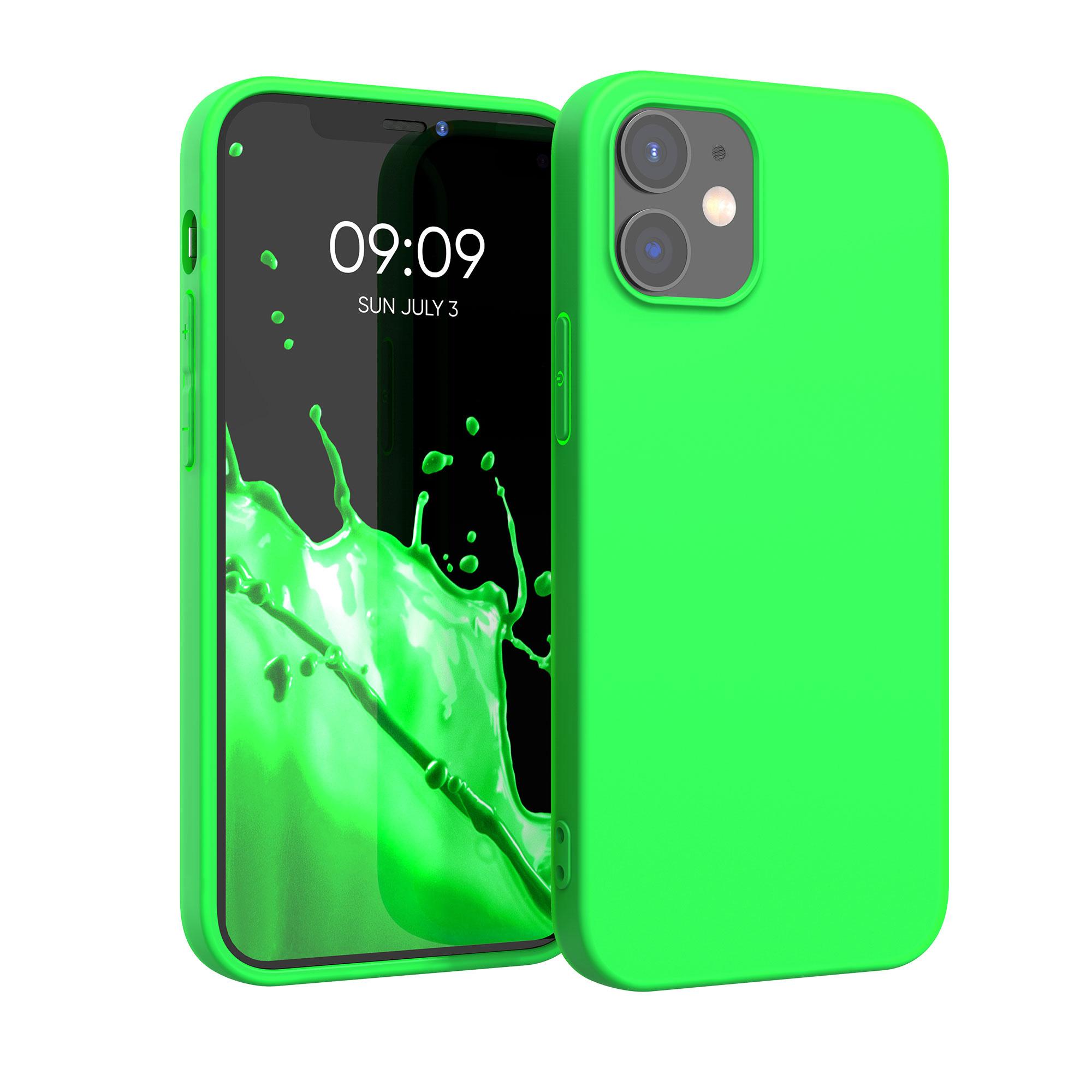 Kvalitní silikonové TPU pouzdro pro Apple iPhone 12 / 12 Pro - Neonově zelená