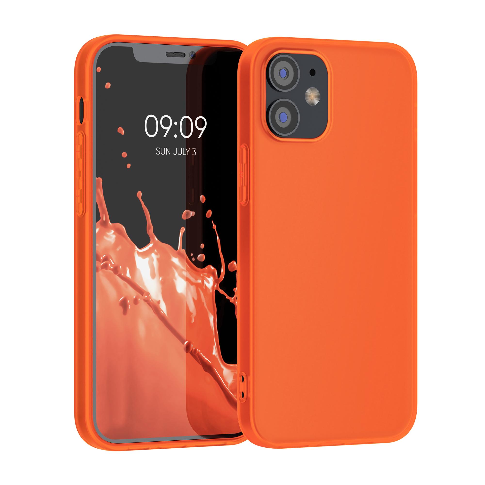 Kvalitní silikonové TPU pouzdro pro Apple iPhone 12 / 12 Pro - Neon Orange