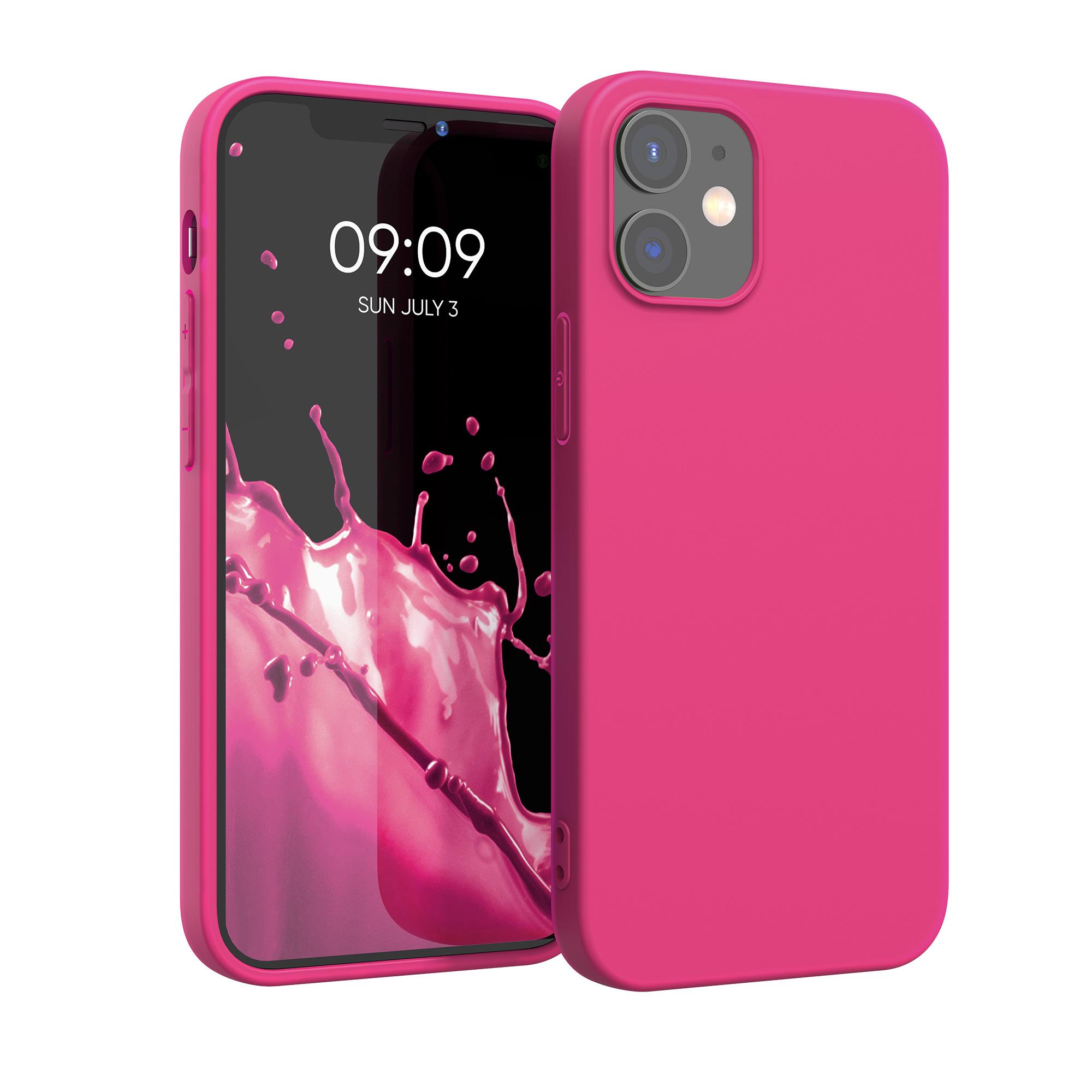 Kvalitní silikonové TPU pouzdro pro Apple iPhone 12 / 12 Pro - Neon Pink