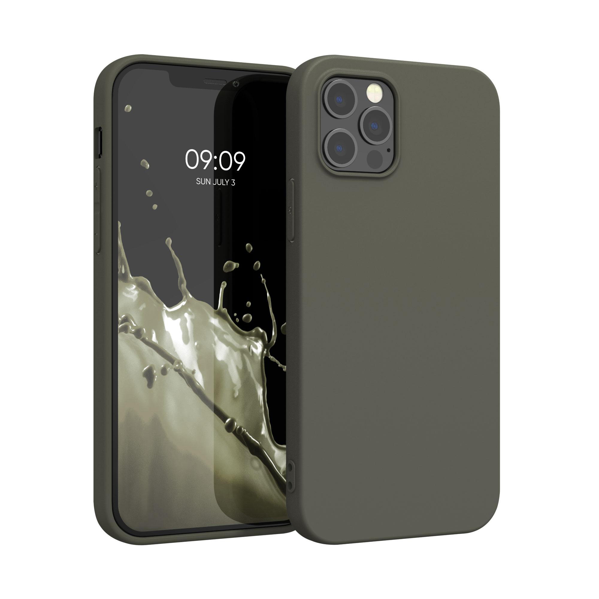 Kvalitní silikonové TPU pouzdro pro Apple iPhone 12 Pro Max - Olive Green Matte