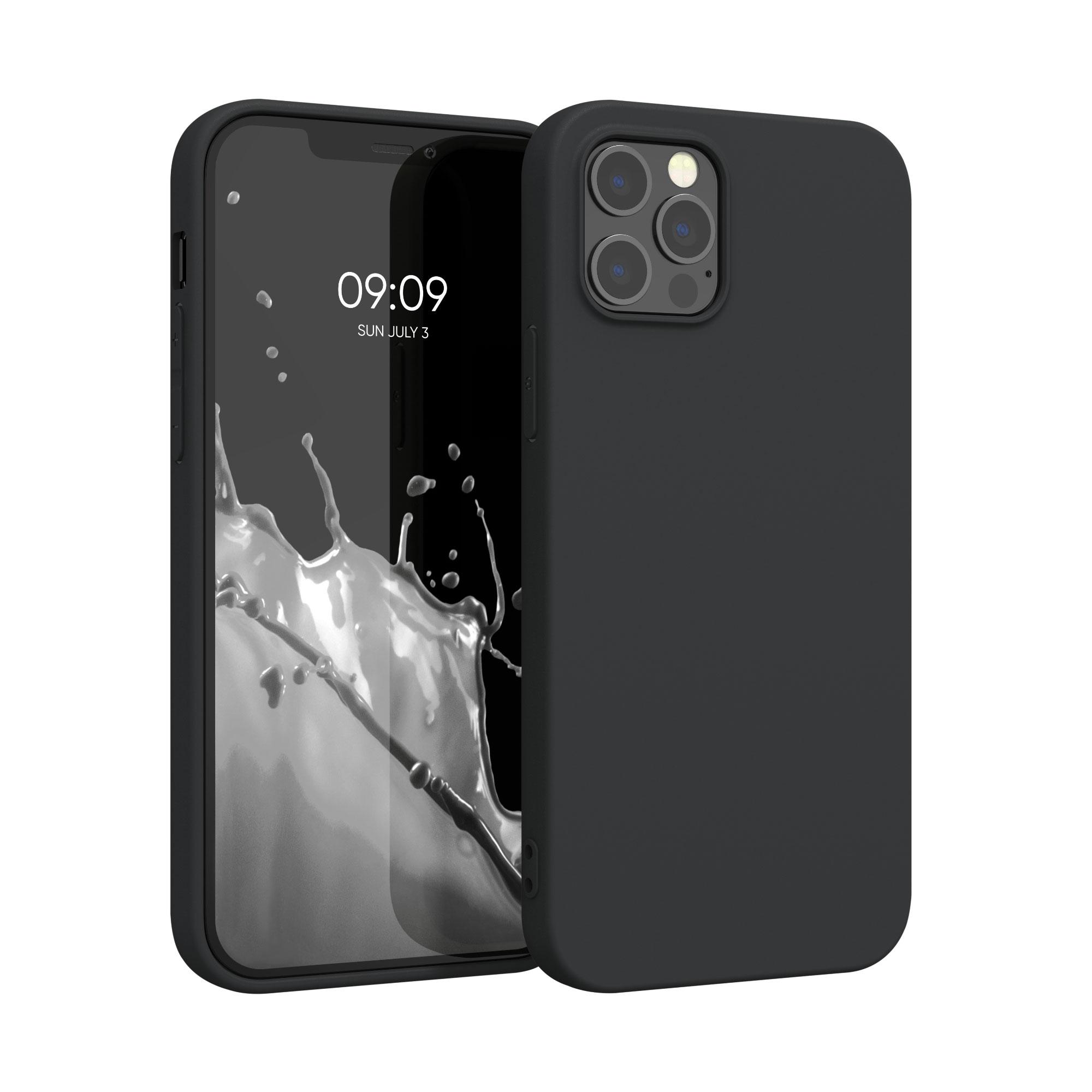 Kvalitní silikonové TPU pouzdro pro Apple iPhone 12 Pro Max - Black Matte