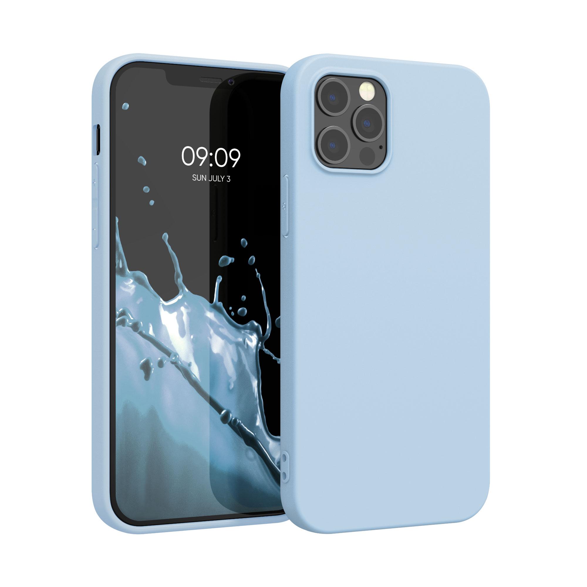 Kvalitní silikonové TPU pouzdro pro Apple iPhone 12 Pro Max - Light Blue Matte