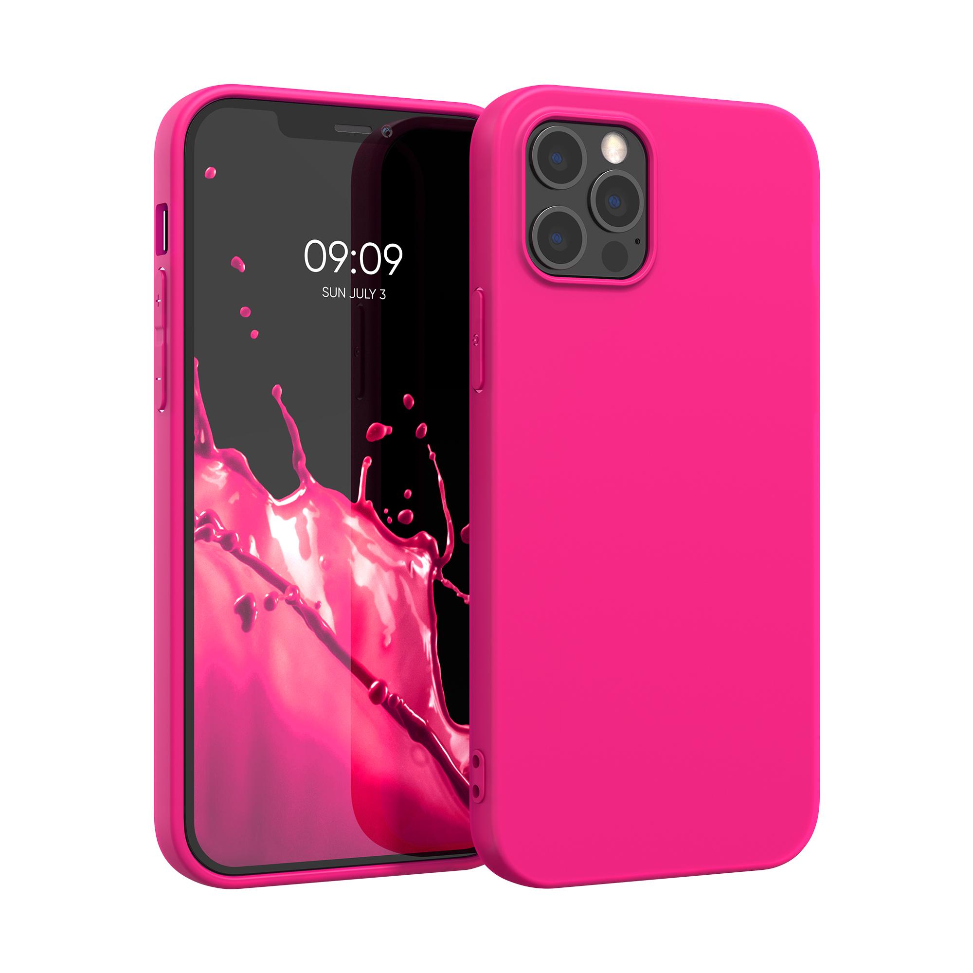 Kvalitní silikonové TPU pouzdro pro Apple iPhone 12 Pro Max - Neon Pink