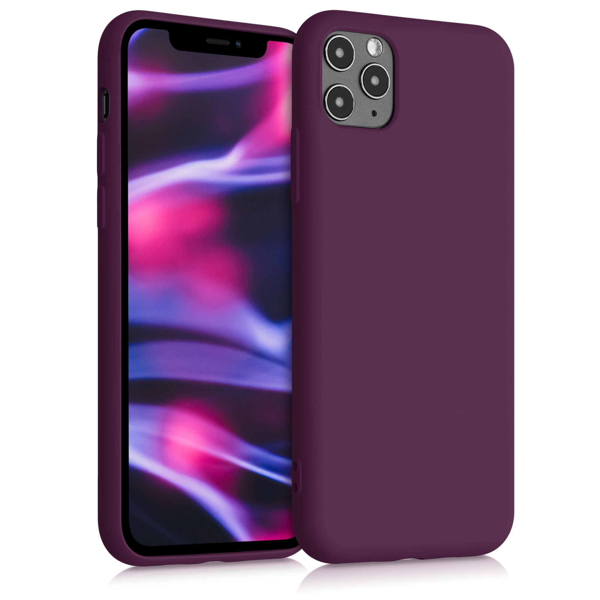 Kvalitní silikonové TPU pouzdro pro Apple iPhone 11 Pro Max - Bordeaux Violet