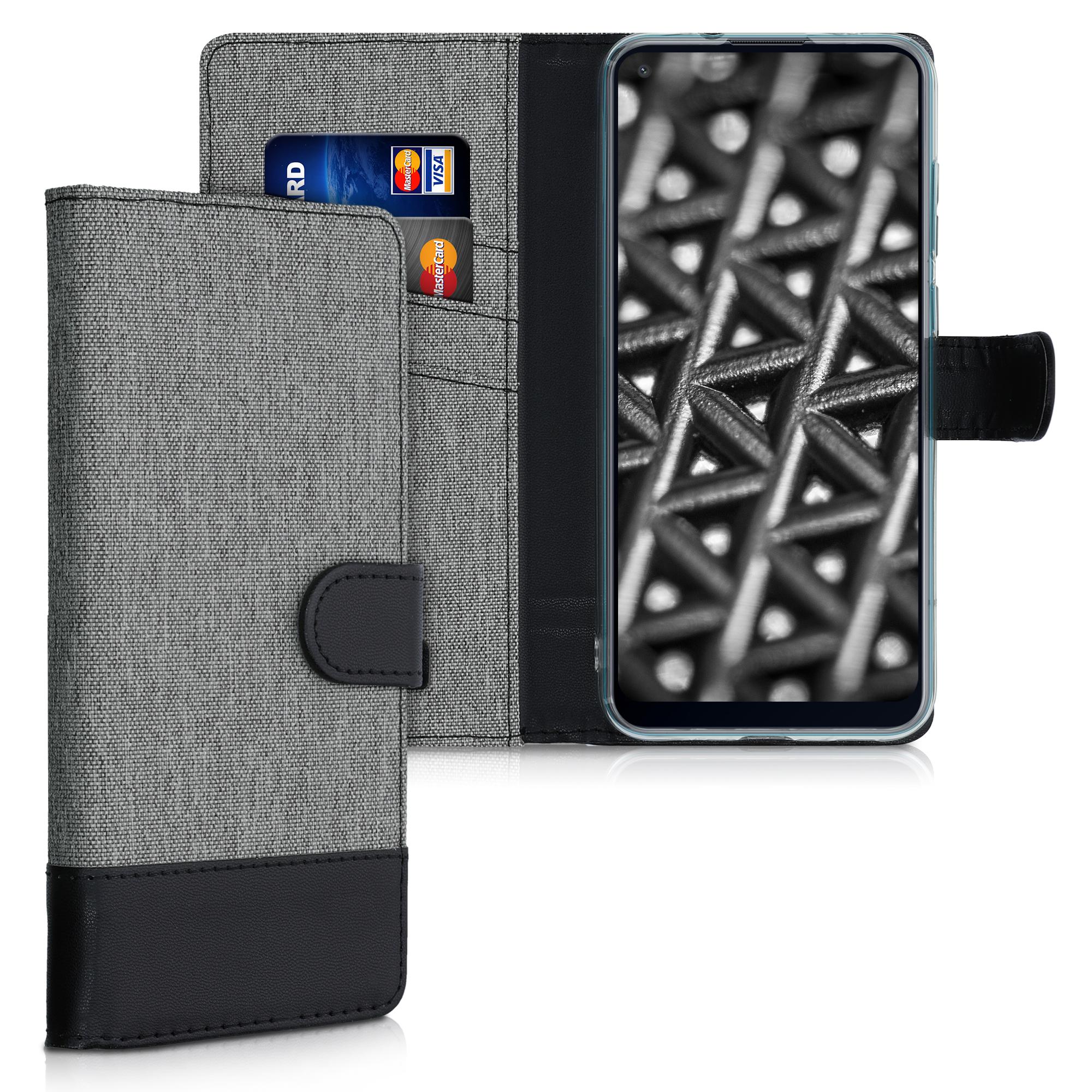 Fabricpouzdro pro Samsung M11 - Šedá / černá