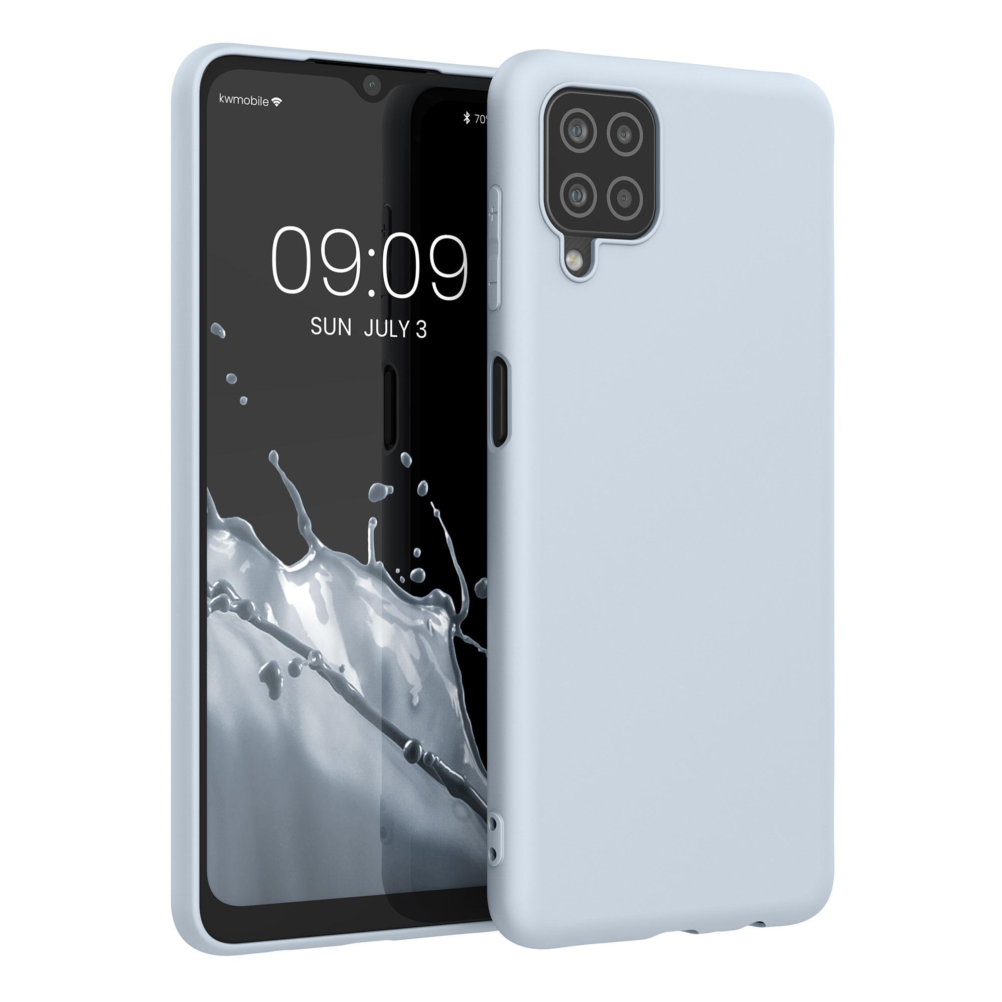 Kvalitní silikonové TPU pouzdro pro Samsung A12 - Light Blue Matte