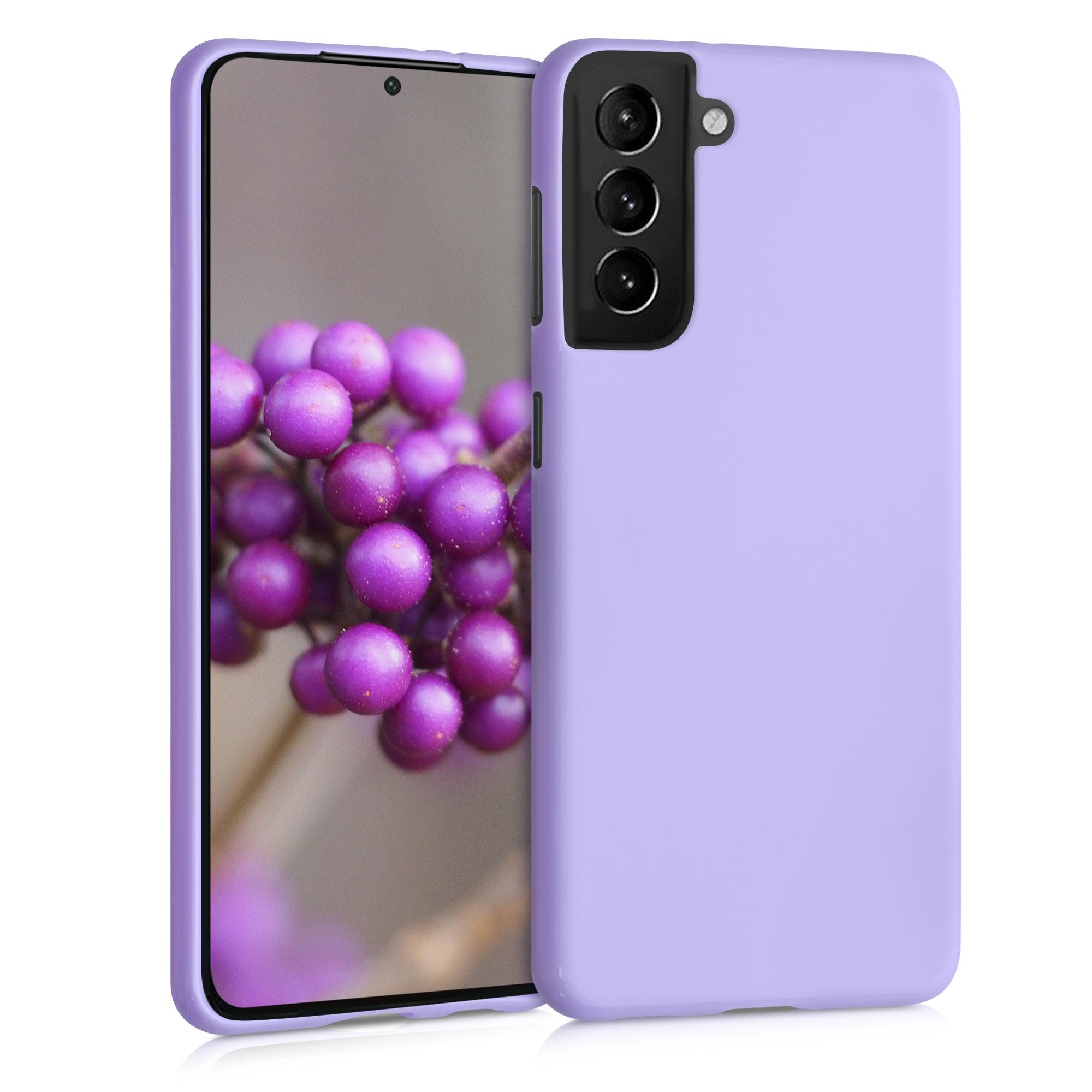 Kvalitní silikonové TPU pouzdro pro Samsung S21 - Levandule
