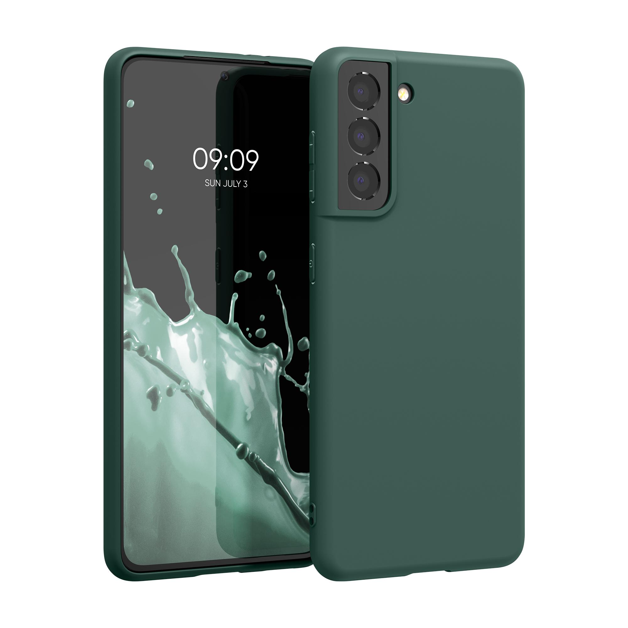 Kvalitní silikonové TPU pouzdro pro Samsung S21 - Moss Green