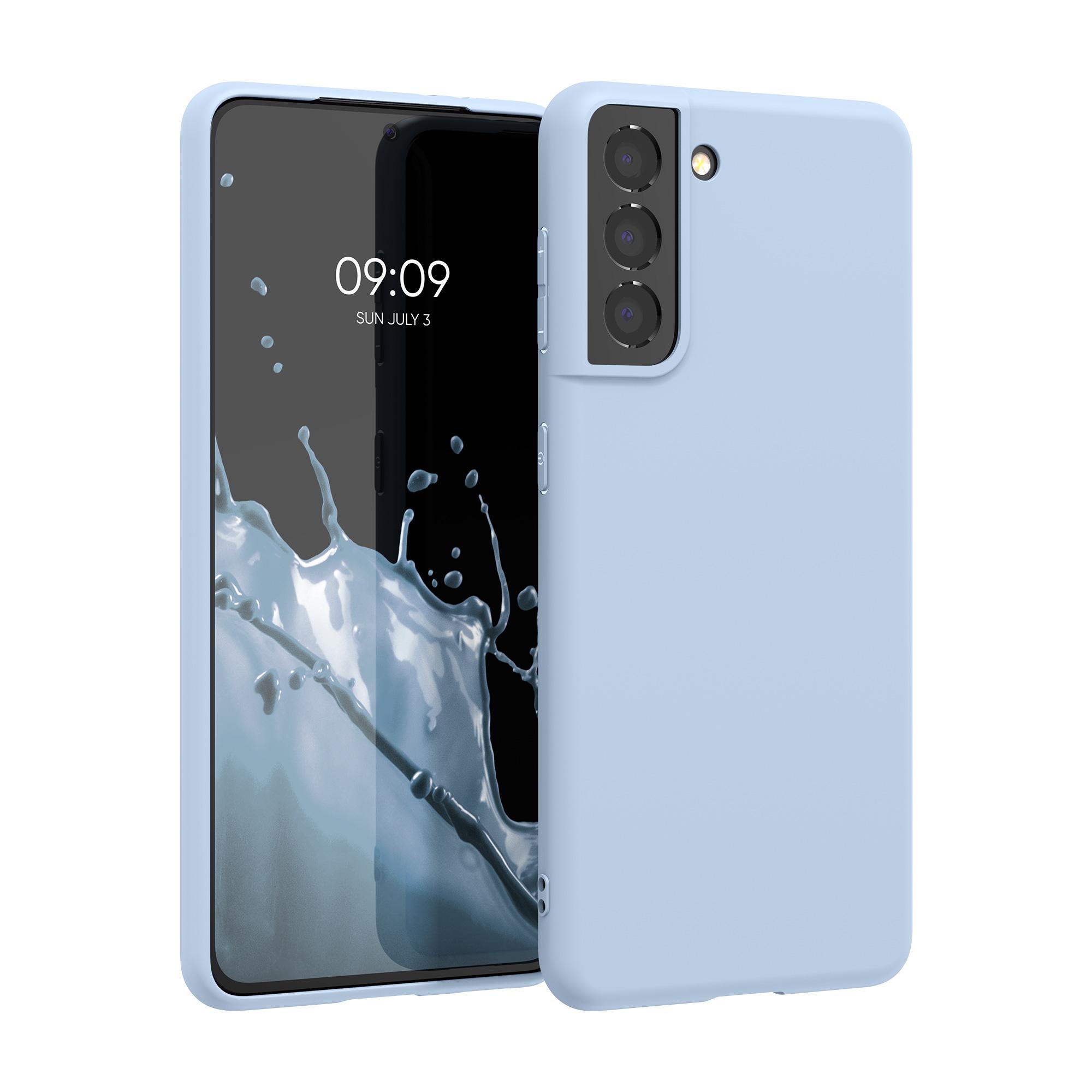 Kvalitní silikonové TPU pouzdro pro Samsung S21 - Light Blue Matte