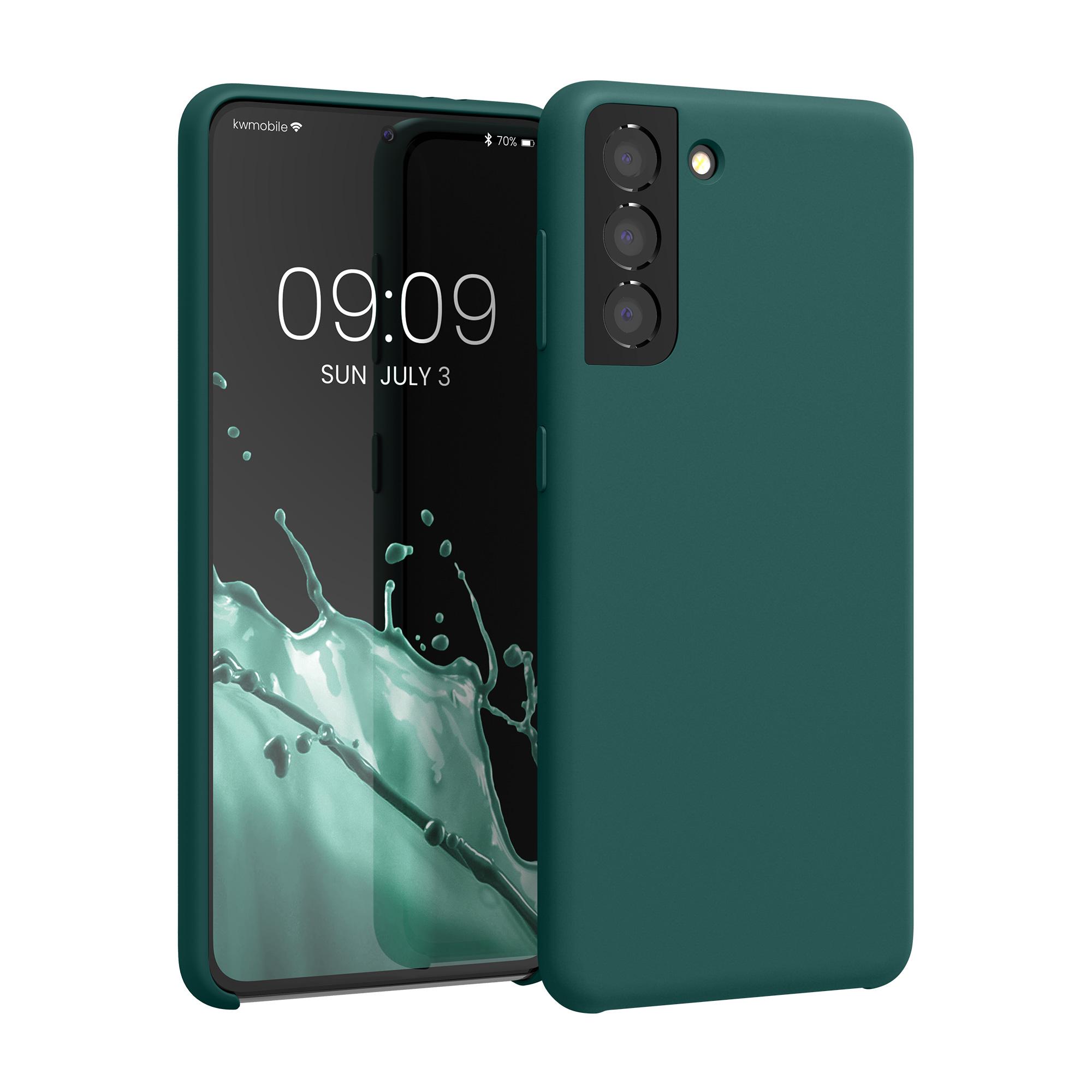 AKCE IHNED! Kvalitní silikonové TPU pouzdro pro Samsung S21 - Turquoise Green