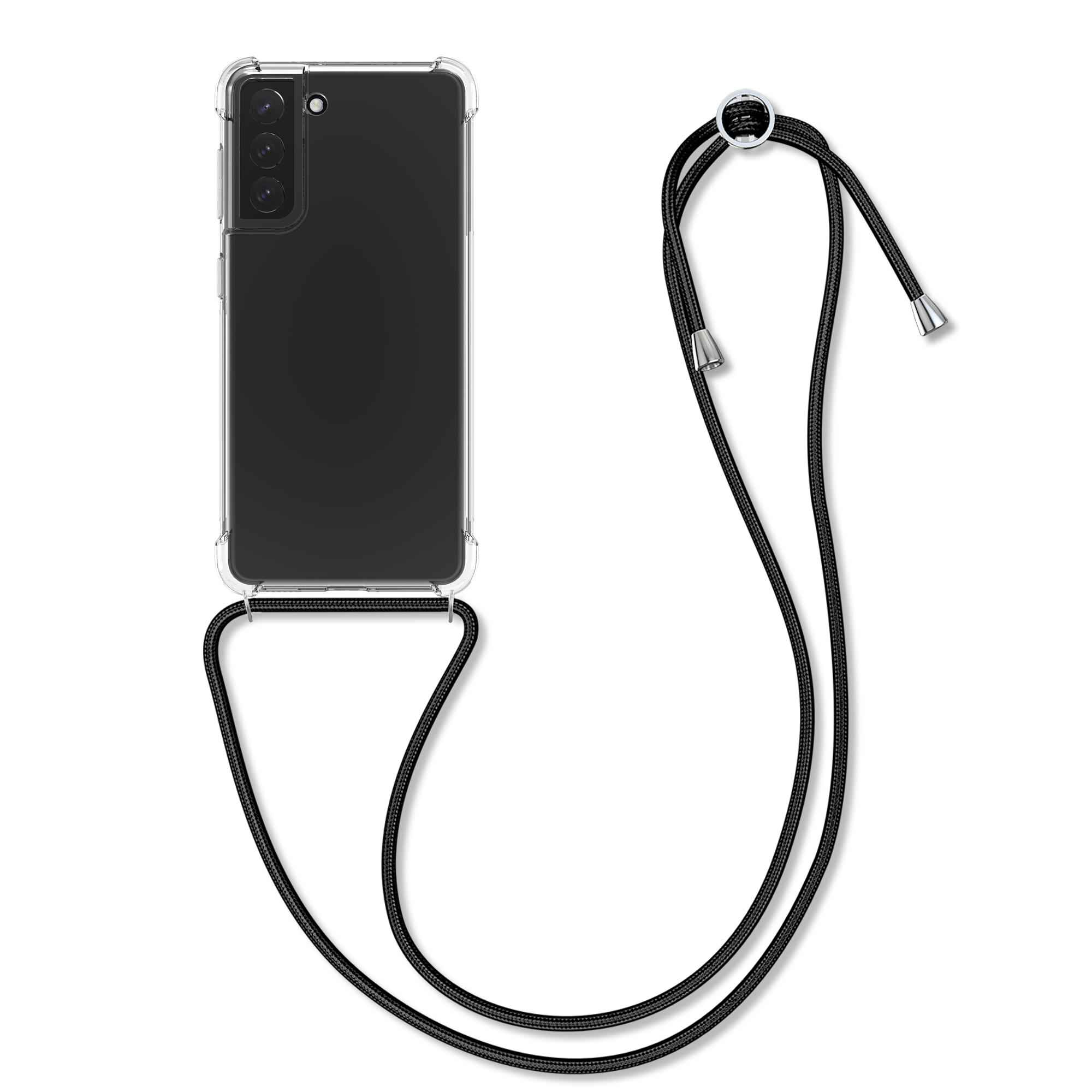 Kvalitní silikonové TPU pouzdro pro Samsung S21 - Black / Transparent