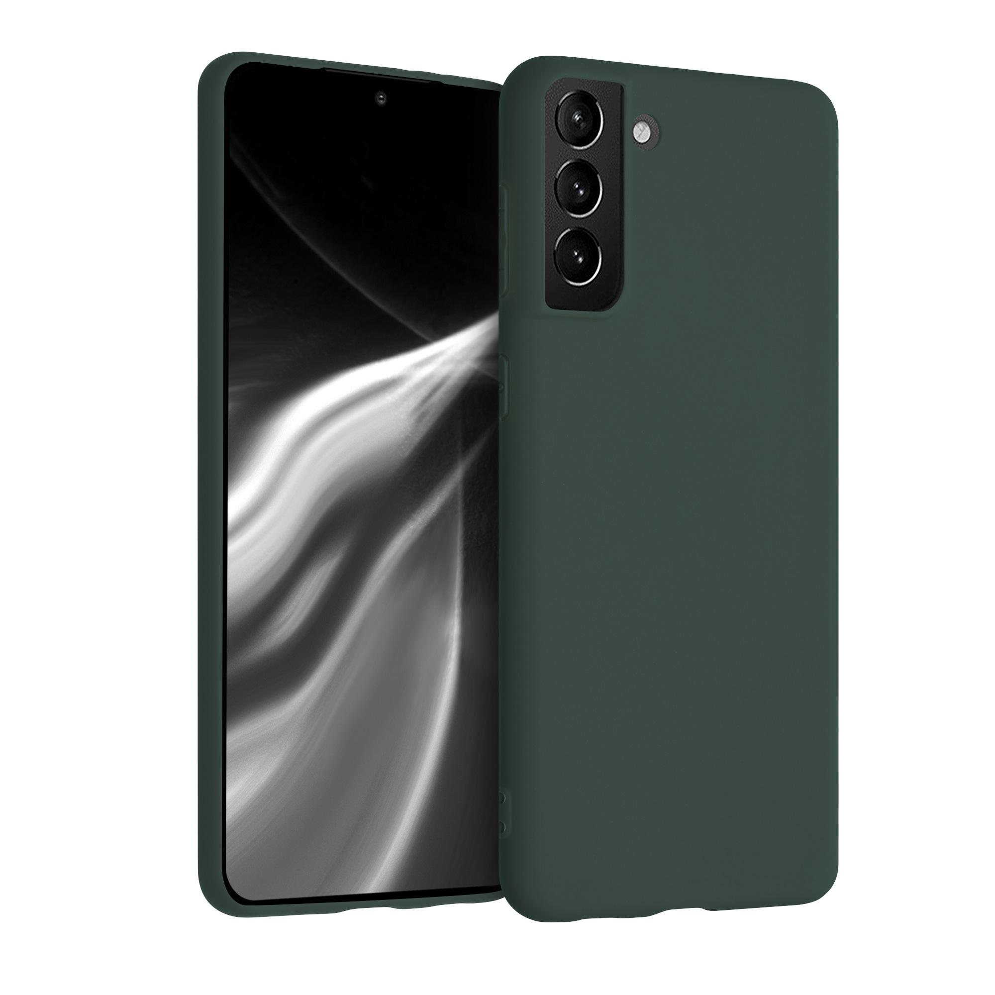 Kvalitní silikonové TPU pouzdro pro Samsung S21 Plus - Moss Green
