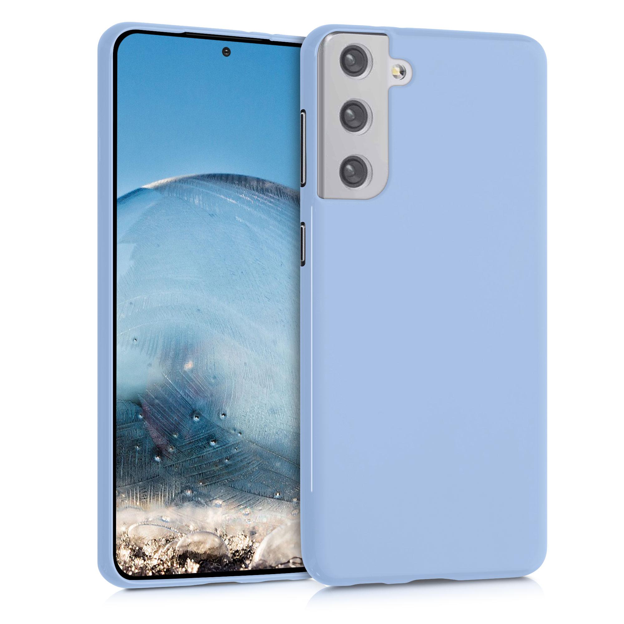 Kvalitní silikonové TPU pouzdro pro Samsung S21 Plus - Light Blue Matte