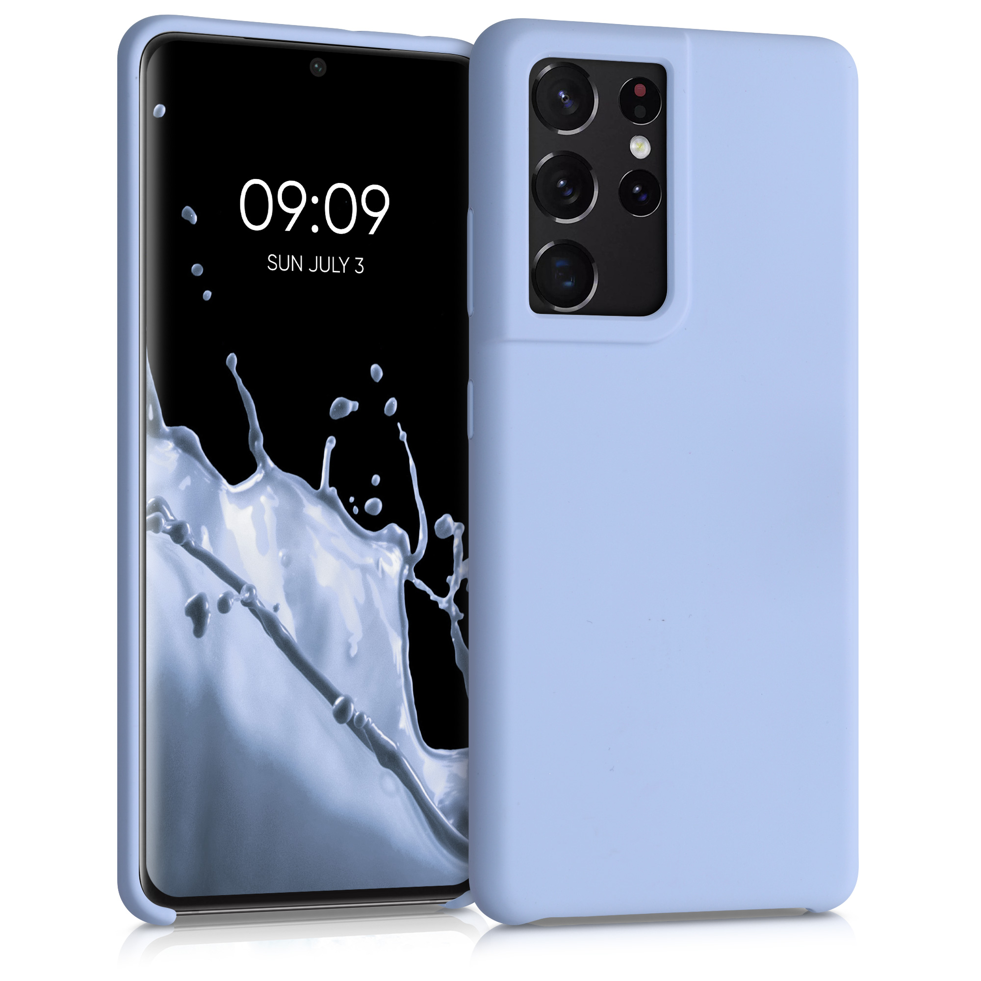 Kvalitní silikonové TPU pouzdro pro Samsung S21 Ultra - Light Blue Matte