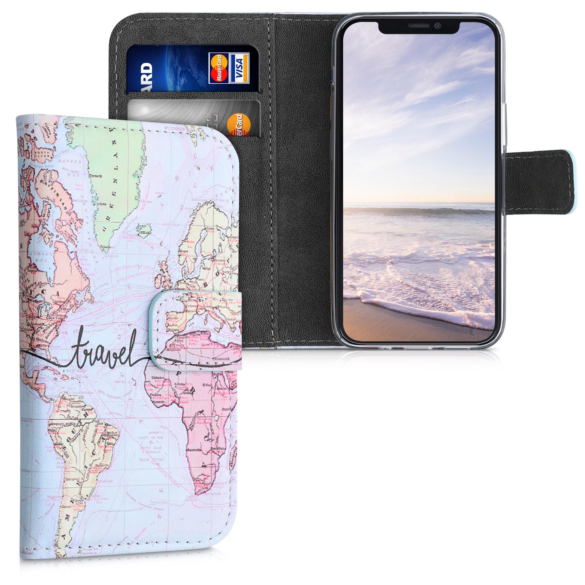 Kožené pouzdro pro Apple iPhone 12 mini - Travel Black | vícebarevná