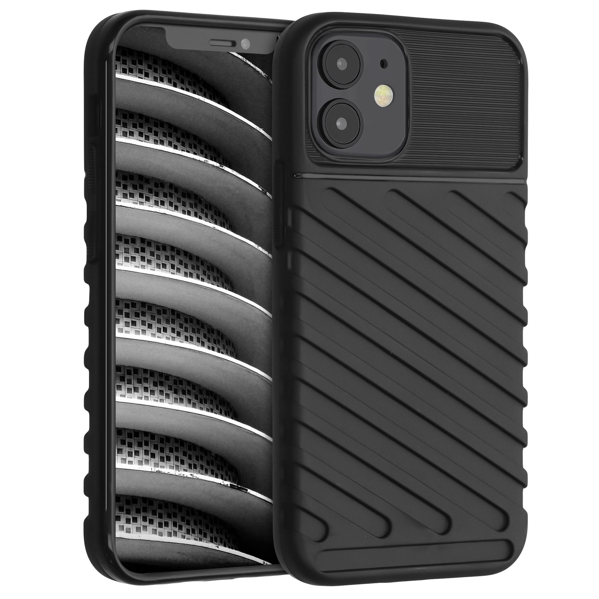 Kvalitní silikonové TPU pouzdro pro Apple iPhone 12 mini - Industrial Black