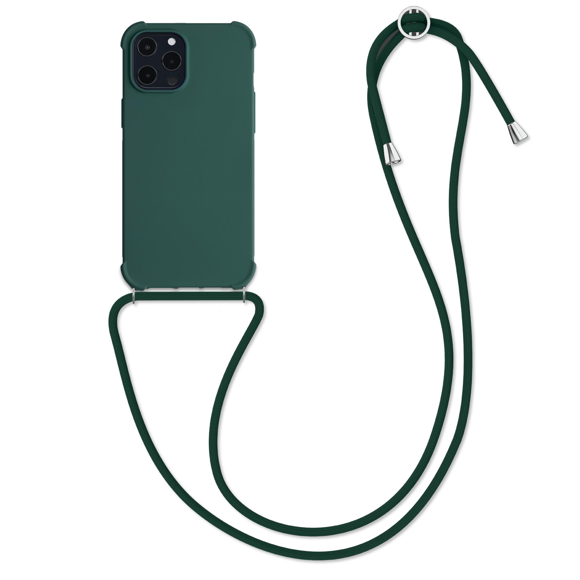 MatteTPUpouzdro pro Apple iPhone 12 Pro Max - Tmavozelený