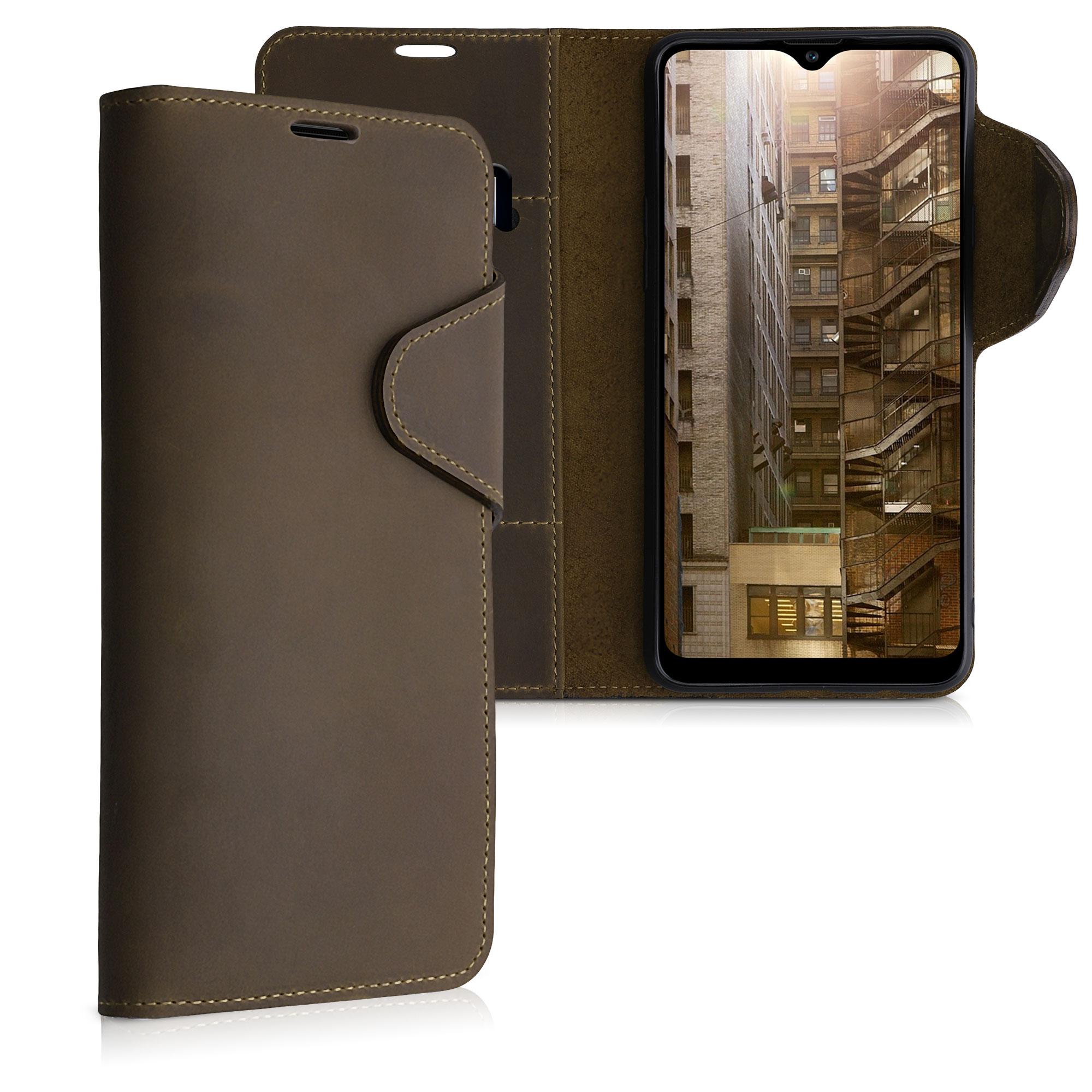 Kožené pouzdro pro Samsung A20s - Hnědý