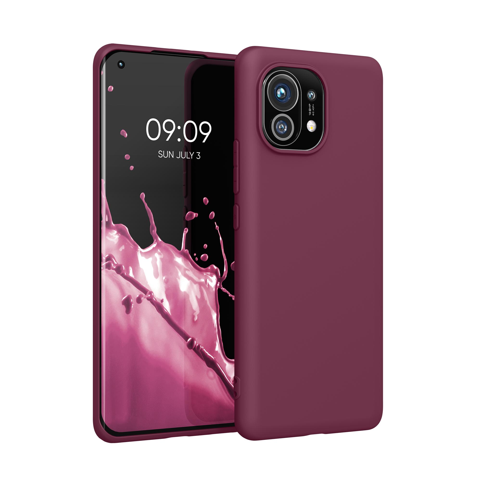 Kvalitní silikonové TPU pouzdro | obal pro Xiaomi Mi 11 -  Bordeauxská fialová