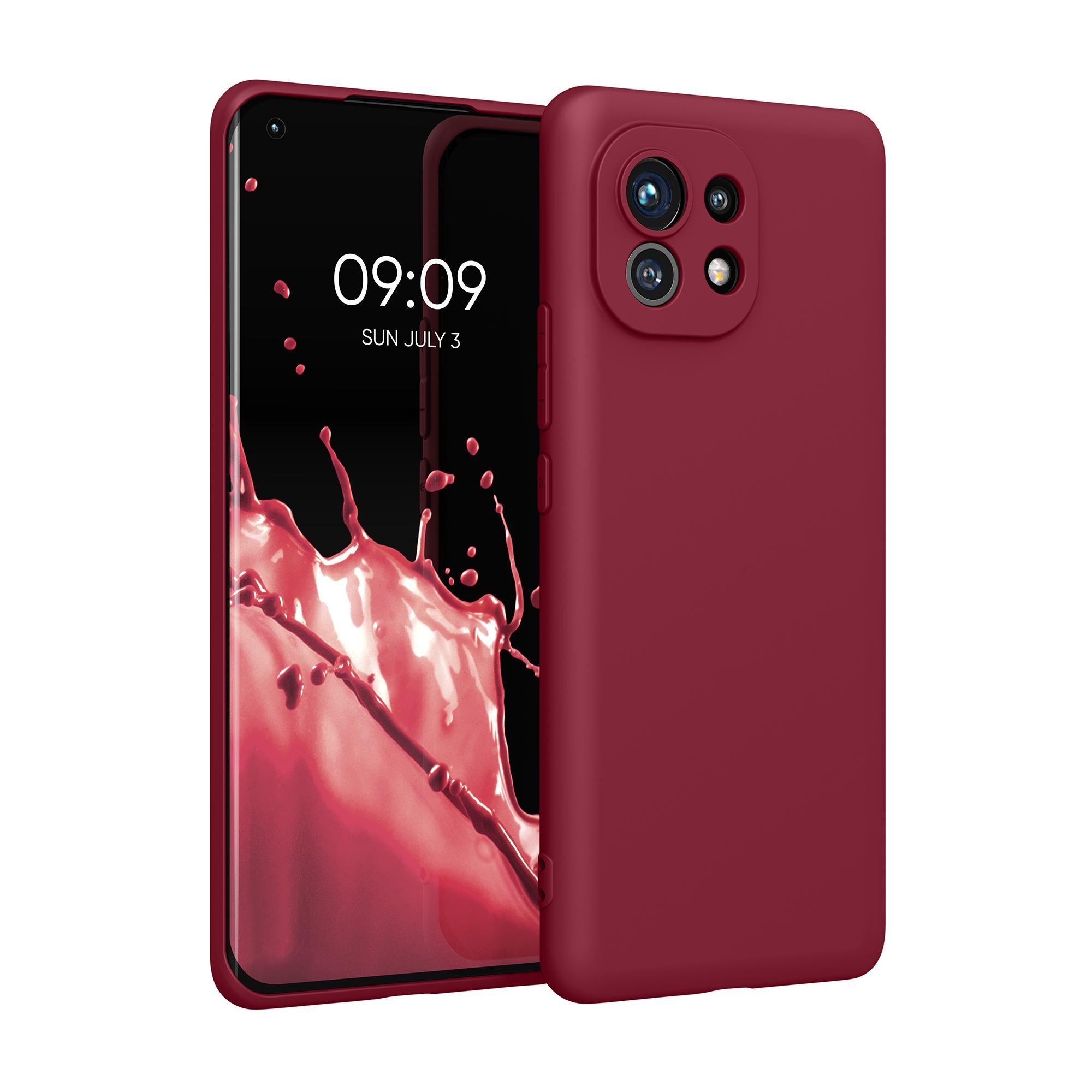 Kvalitní silikonové TPU pouzdro | obal pro Xiaomi Mi 11 -  Rebarborová červená