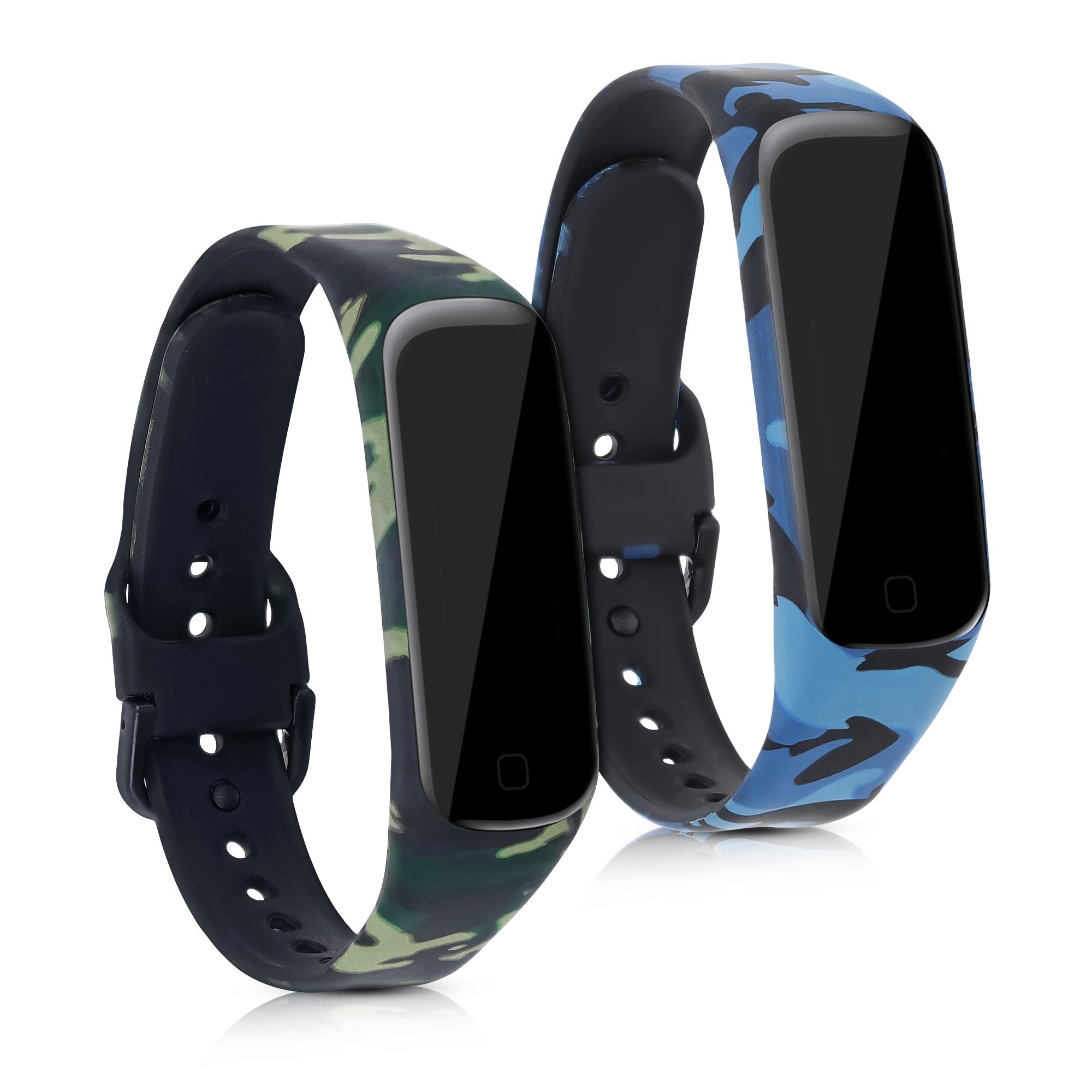 2x Kvalitní silikonový pásek / řemínek pro Samsung Fit 2 - modrá / zelená