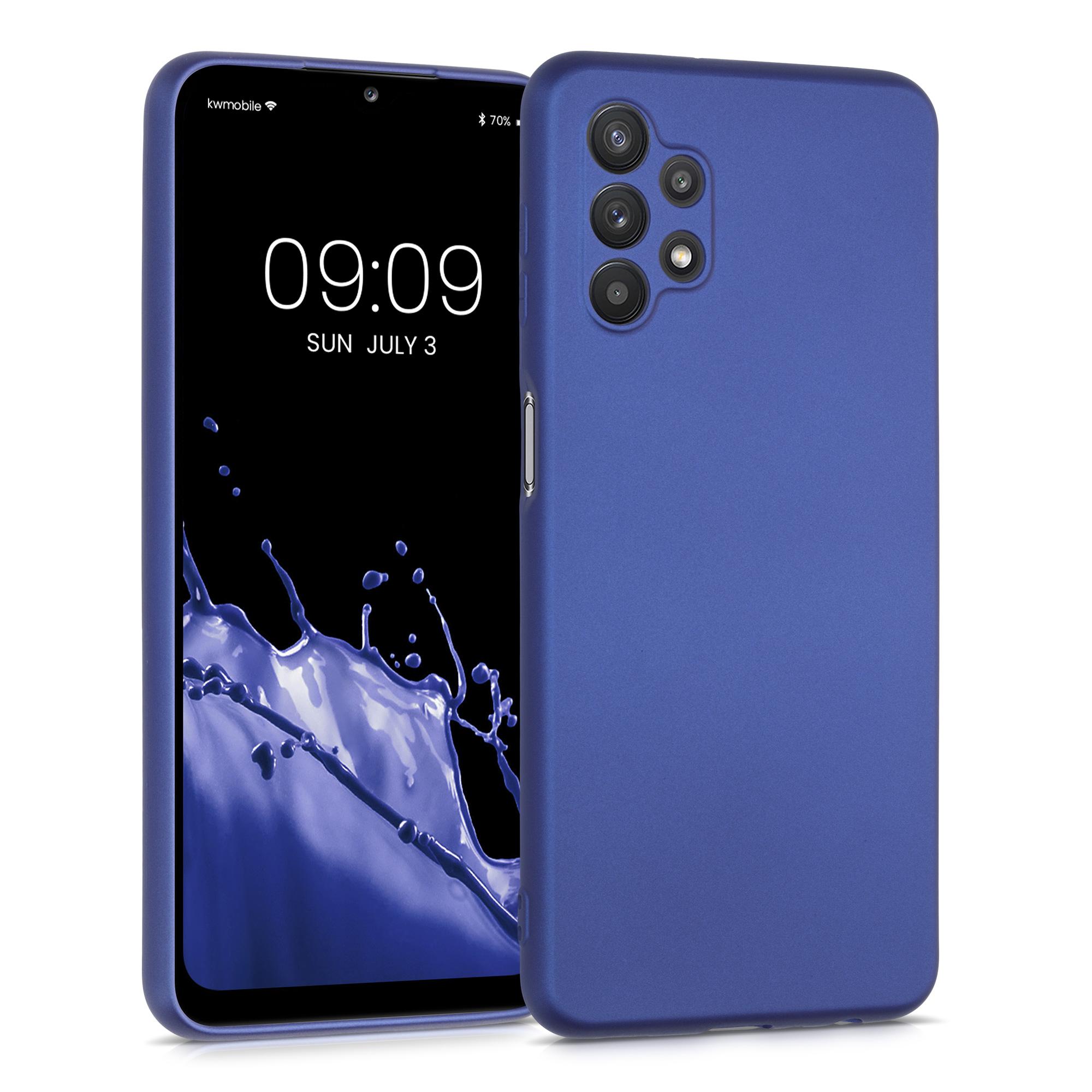 Kvalitní silikonové TPU pouzdro pro Samsung A32 5G - modrá metalíza