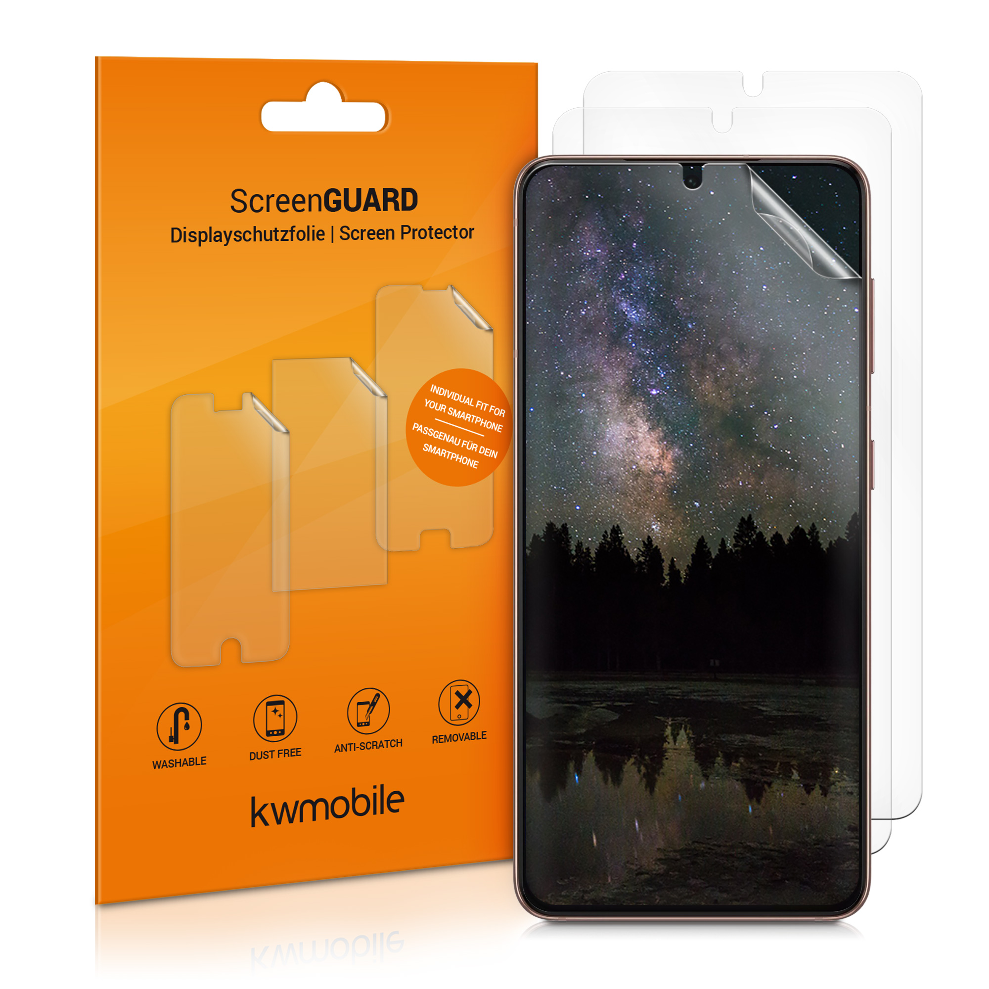 3x folie na display / screenprotector pro  Samsung Galaxy S21