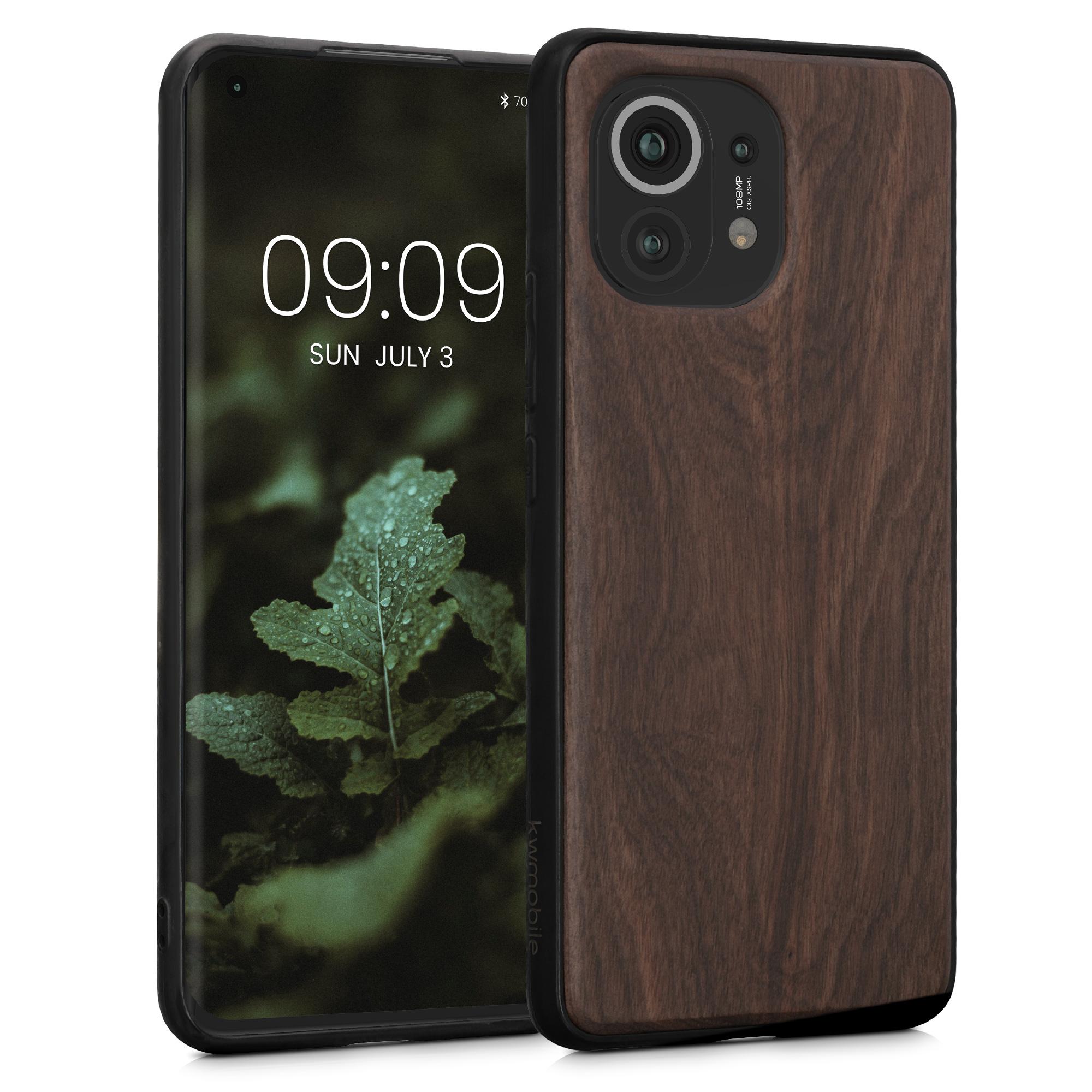 Dřevěné pouzdro | obal pro Xiaomi Mi 11 -  Tmavě hnědá