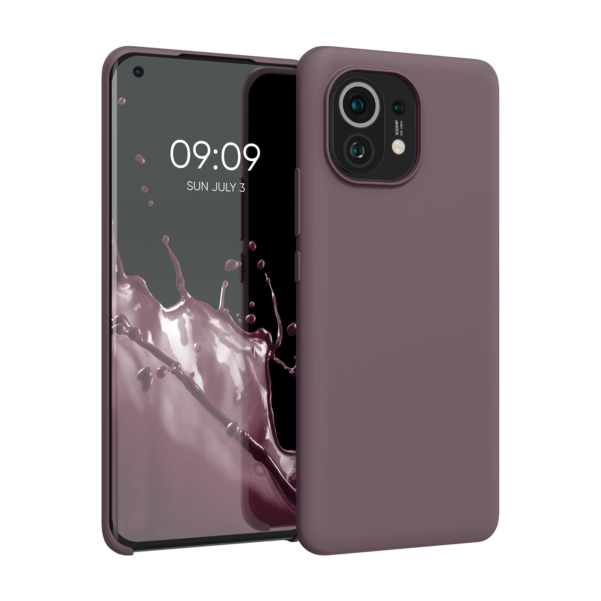 Kvalitní silikonové TPU pouzdro | obal pro Xiaomi Mi 11 -  Hroznově fialová