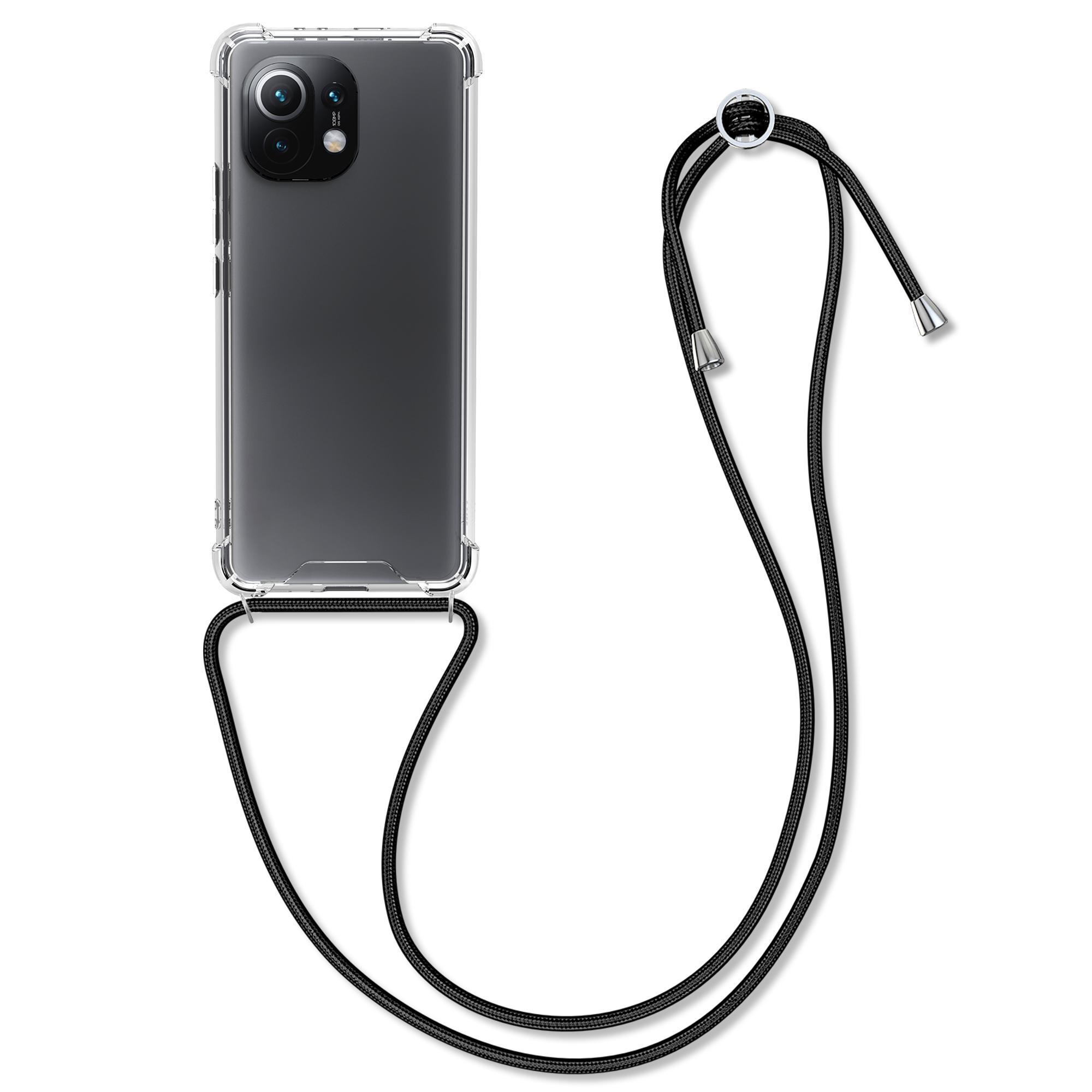 Kvalitní silikonové TPU pouzdro | obal pro Xiaomi Mi 11 -  Černá / průhledná