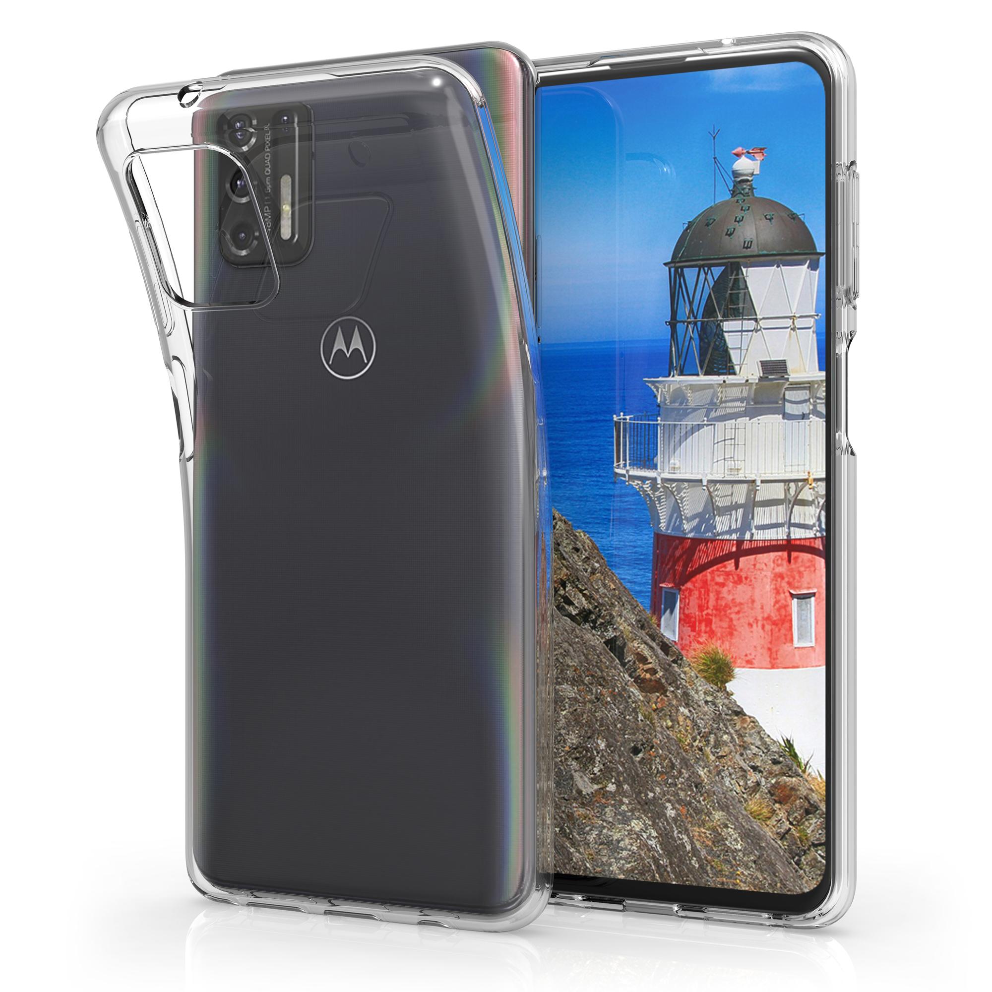 Kvalitní silikonové TPU pouzdro | obal pro Motorola Moto G Pro (2021) / Moto G Stylus (2021) -  Transparentní
