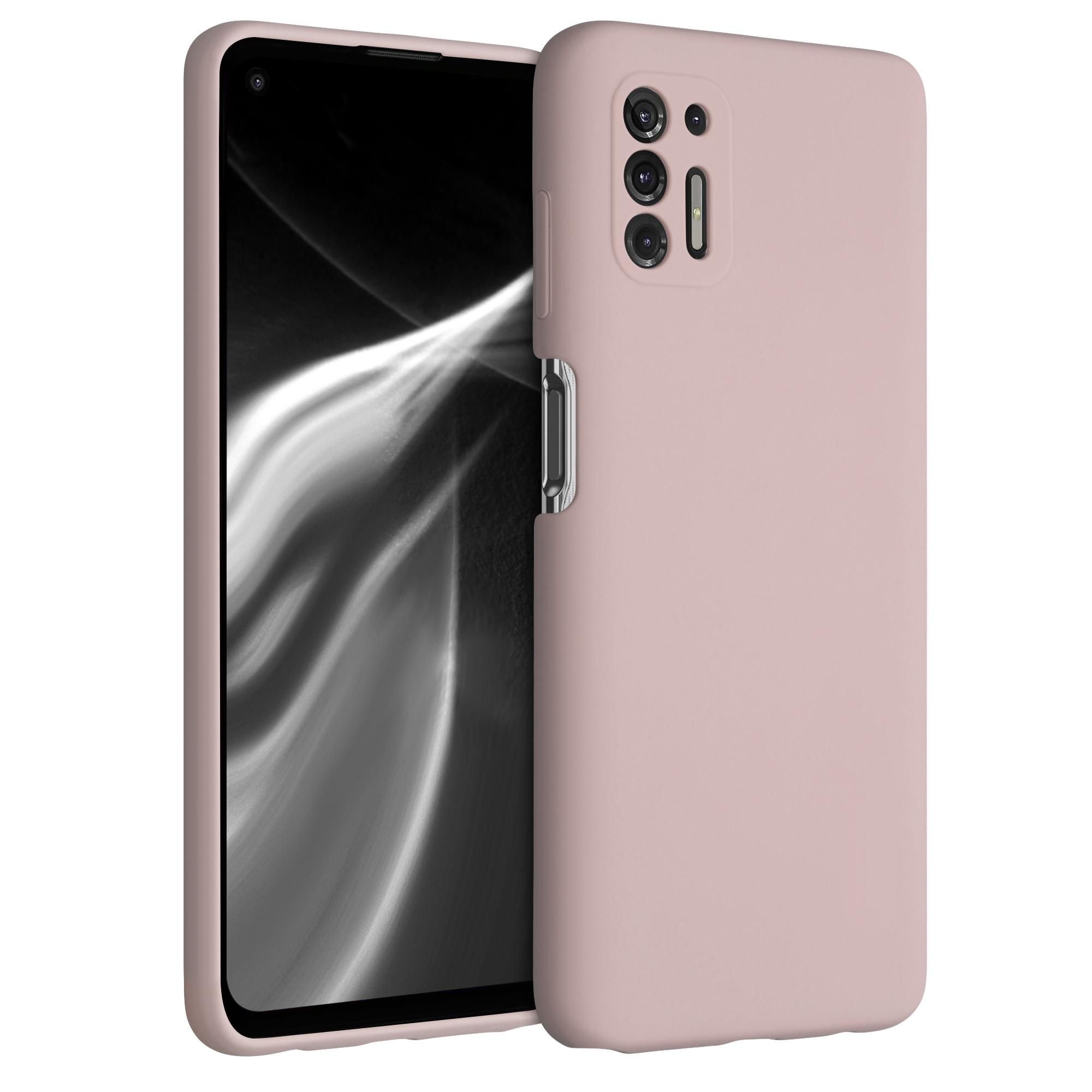 Kvalitní silikonové TPU pouzdro | obal pro Motorola Moto G Pro (2021) / Moto G Stylus (2021) - Prachově růžová