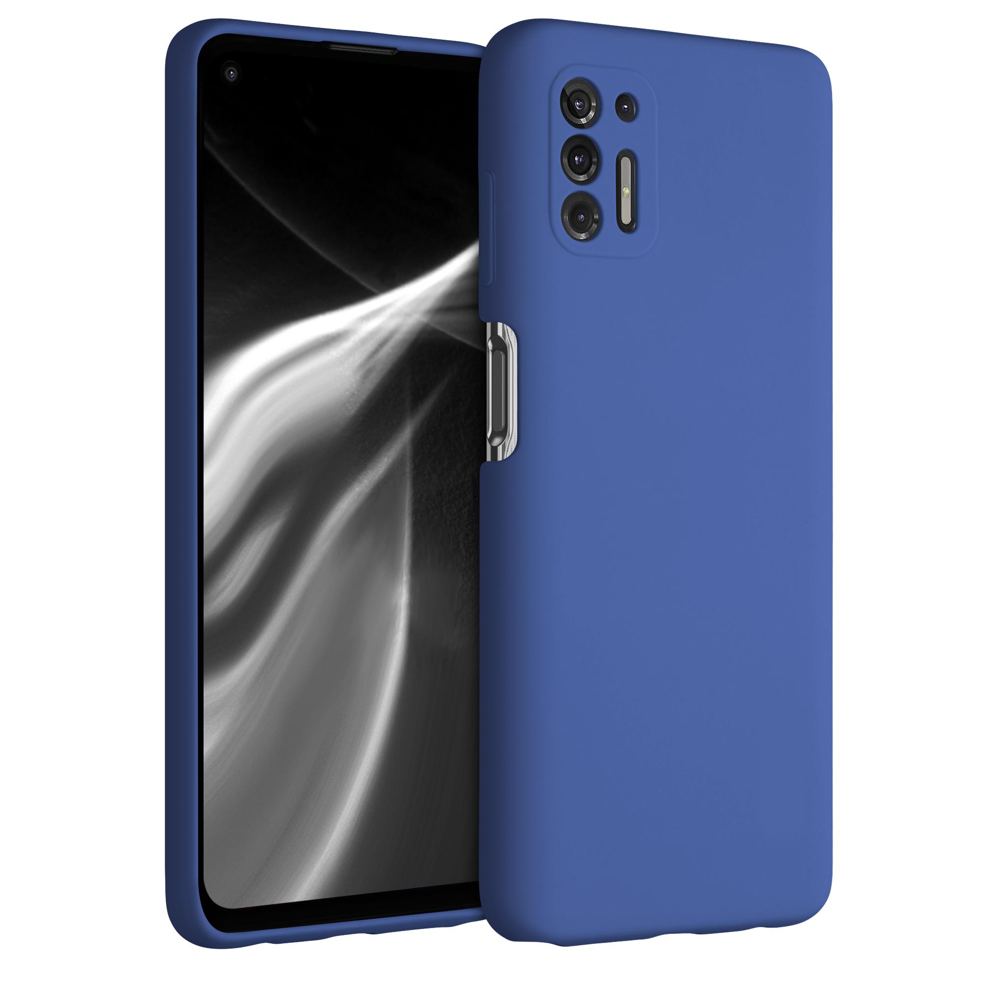 Kvalitní silikonové TPU pouzdro | obal pro Motorola Moto G Pro (2021) / Moto G Stylus (2021) - Chrpová modř