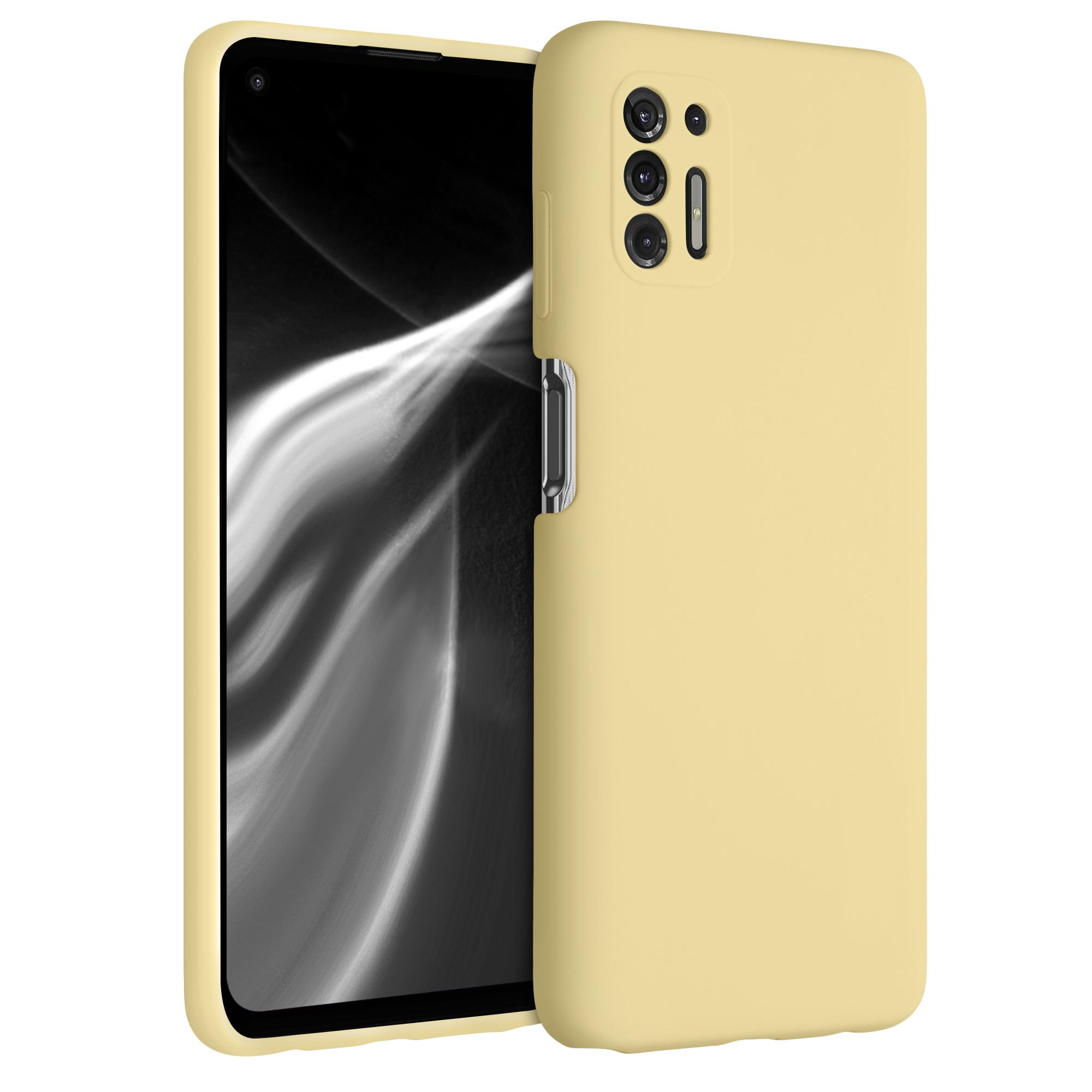 Kvalitní silikonové TPU pouzdro | obal pro Motorola Moto G Pro (2021) / Moto G Stylus (2021) - Světle žlutá