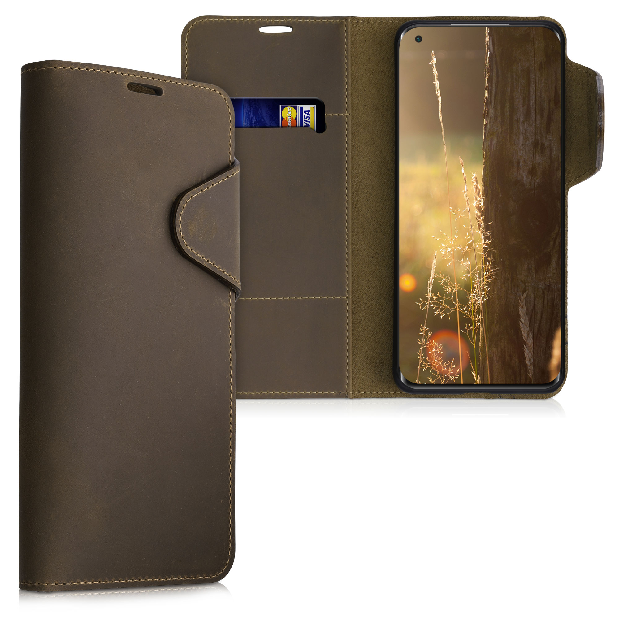 Kožené pouzdro | obal pro Xiaomi Mi 11 -  Hnědá