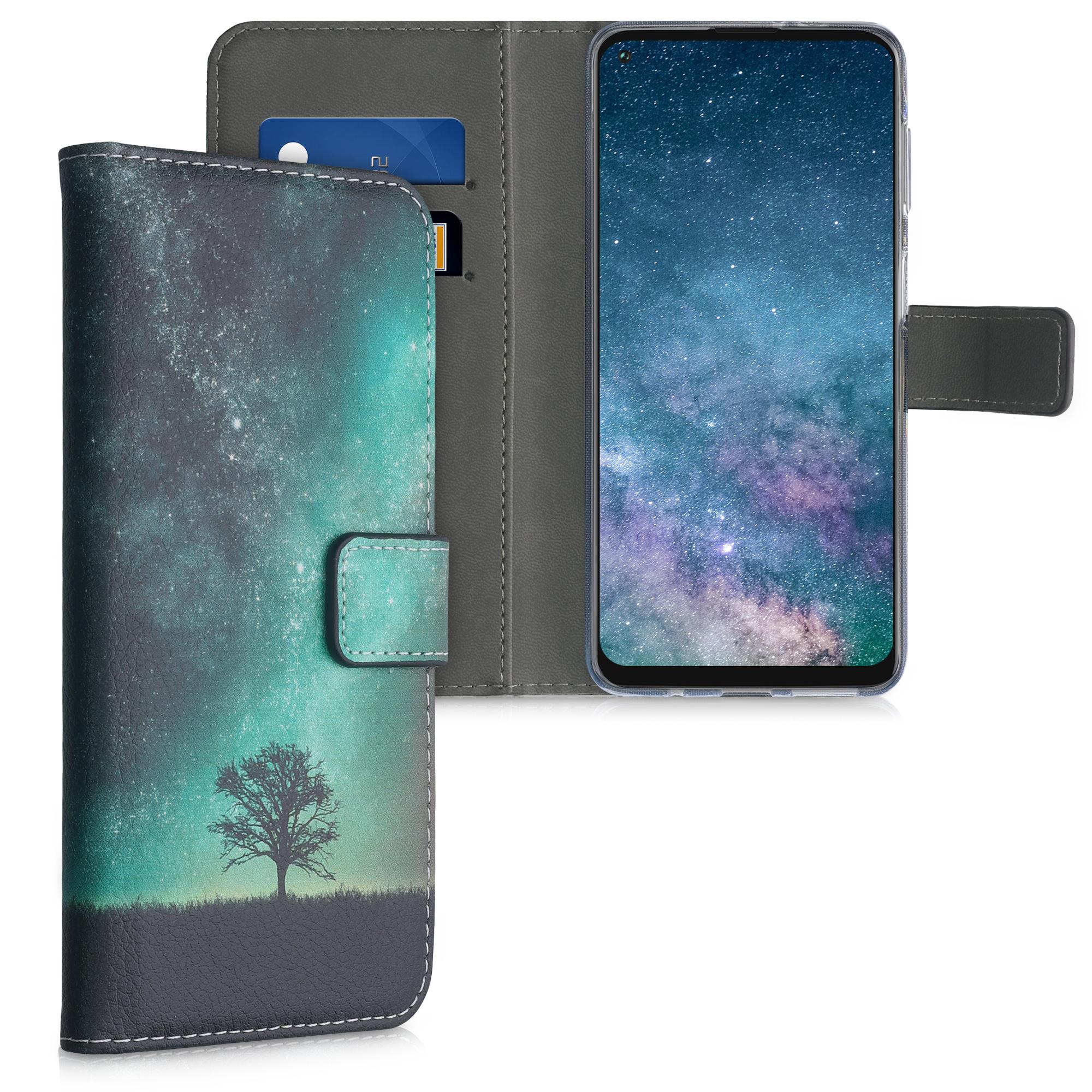 Kožené pouzdro | obal pro Motorola Moto G Power (2021) - Cosmic Nature Modrá / Šedá / Černá