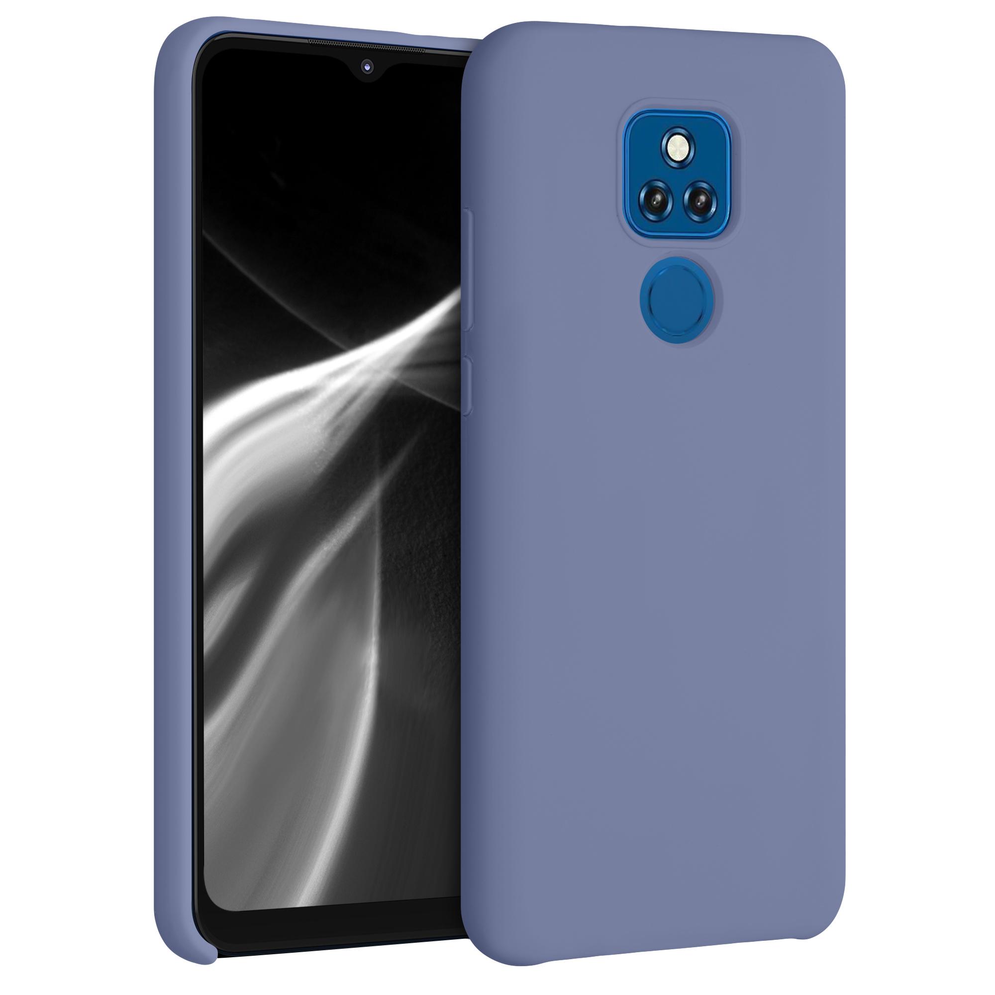 Kvalitní silikonové TPU pouzdro   obal pro Motorola Moto G Play (2021) - Levandulově šedá