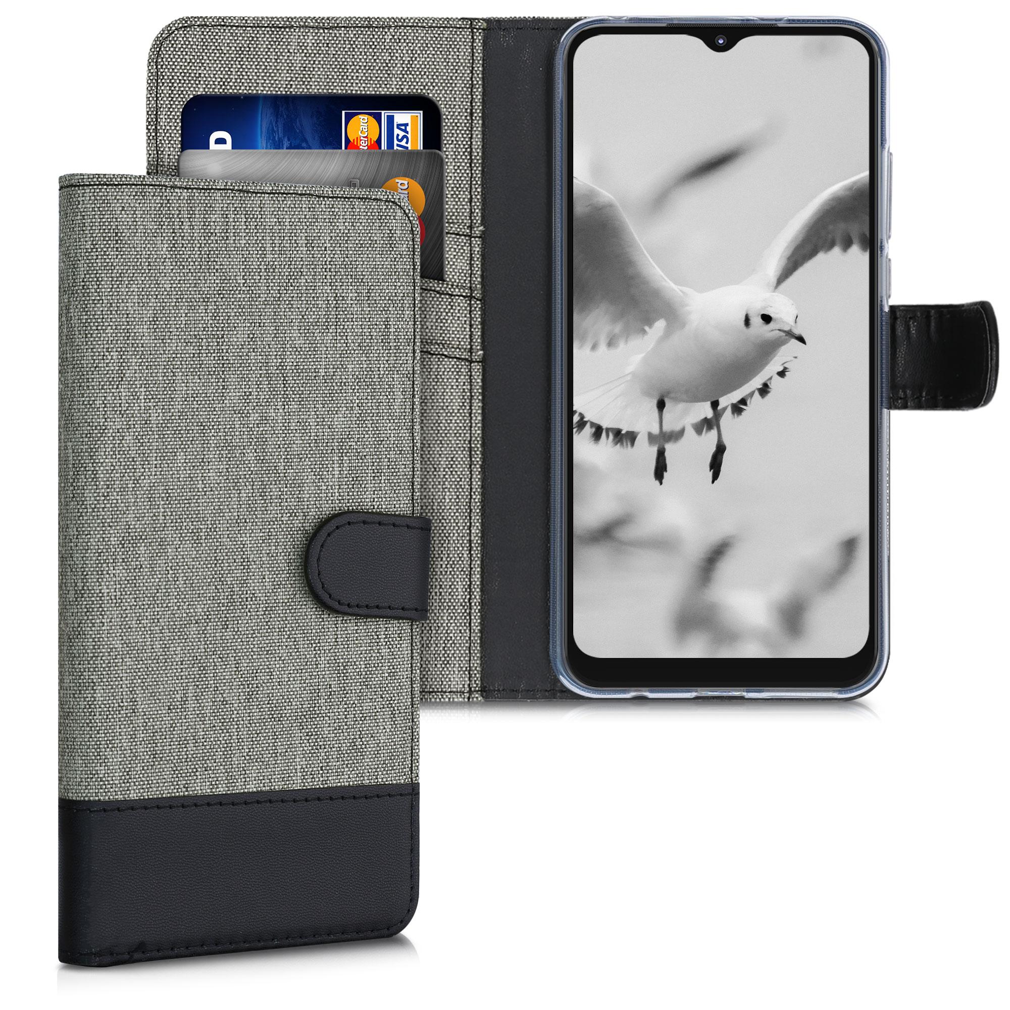 Textilní látkové pouzdro   obal pro Motorola Moto G Play (2021) -  Šedá / černá