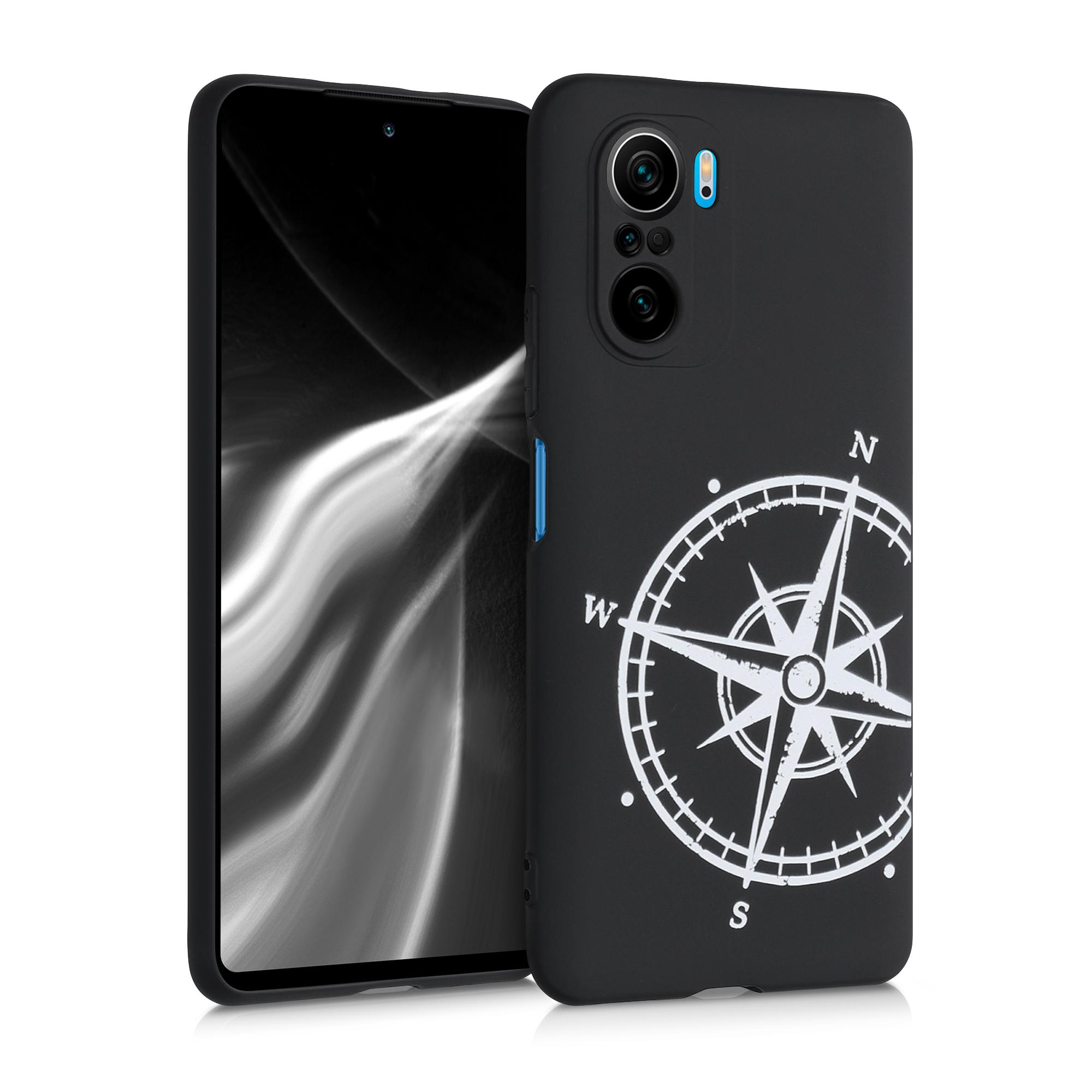 Kvalitní silikonové TPU pouzdro | obal pro Xiaomi Mi 11i / Poco F3 -  Navigační kompas Bílá / Černá