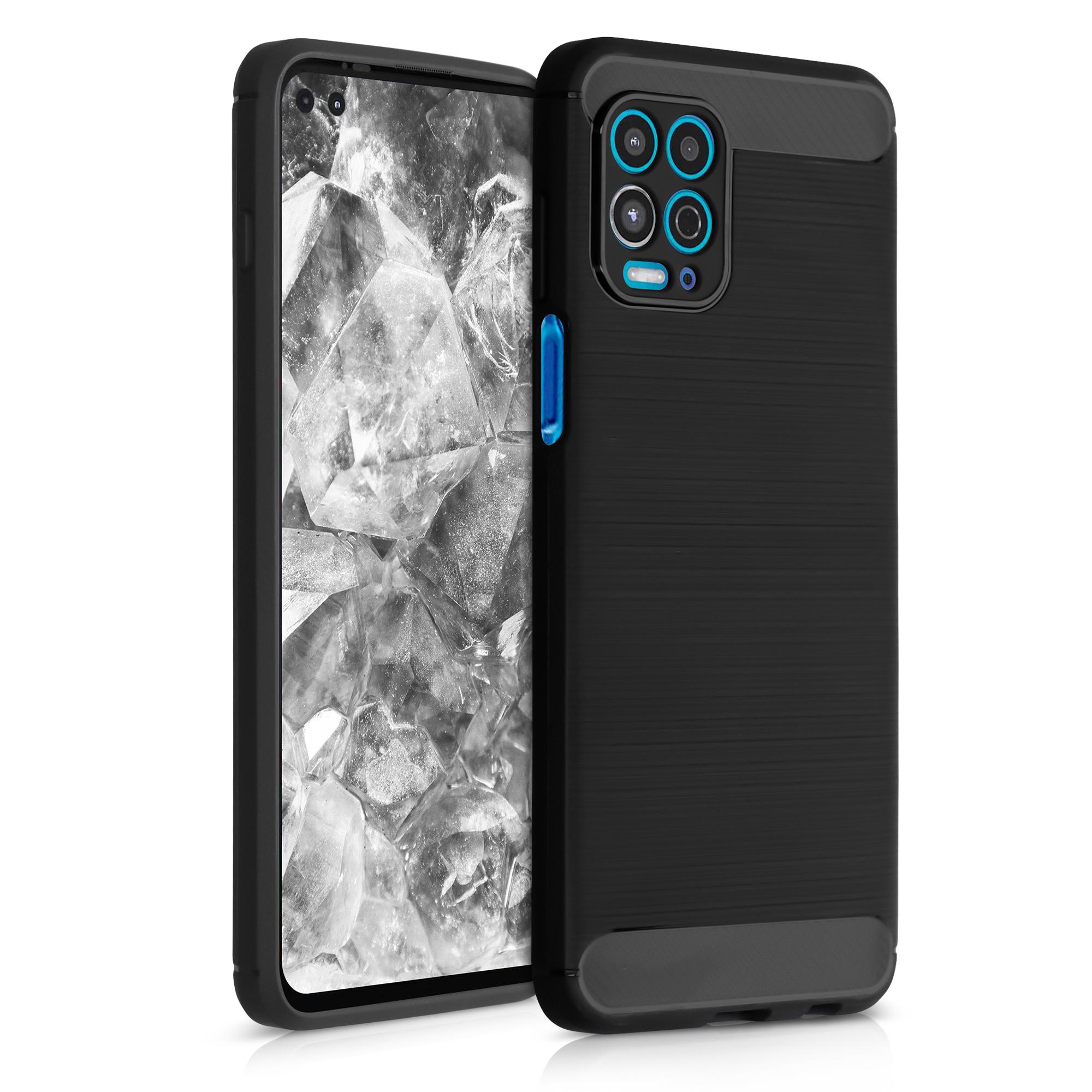 Kvalitní silikonové TPU pouzdro | obal pro Motorola Moto G100 / Edge S - Broušený karbon Antracit